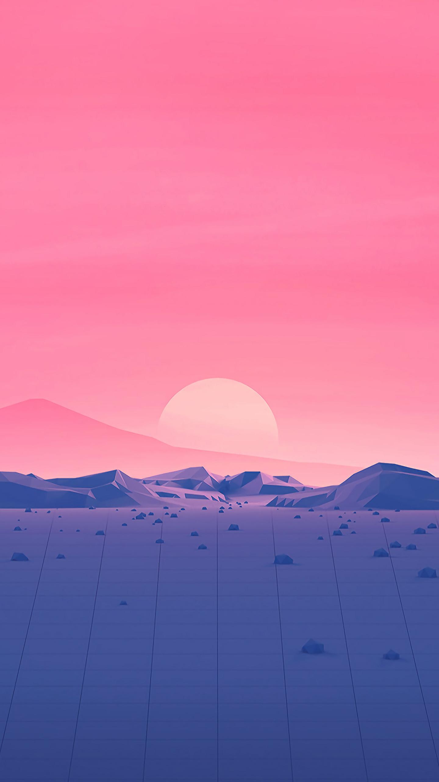 hotizons-sunset-polygon-surface-mountains-4k-minimalism-rp.jpg
