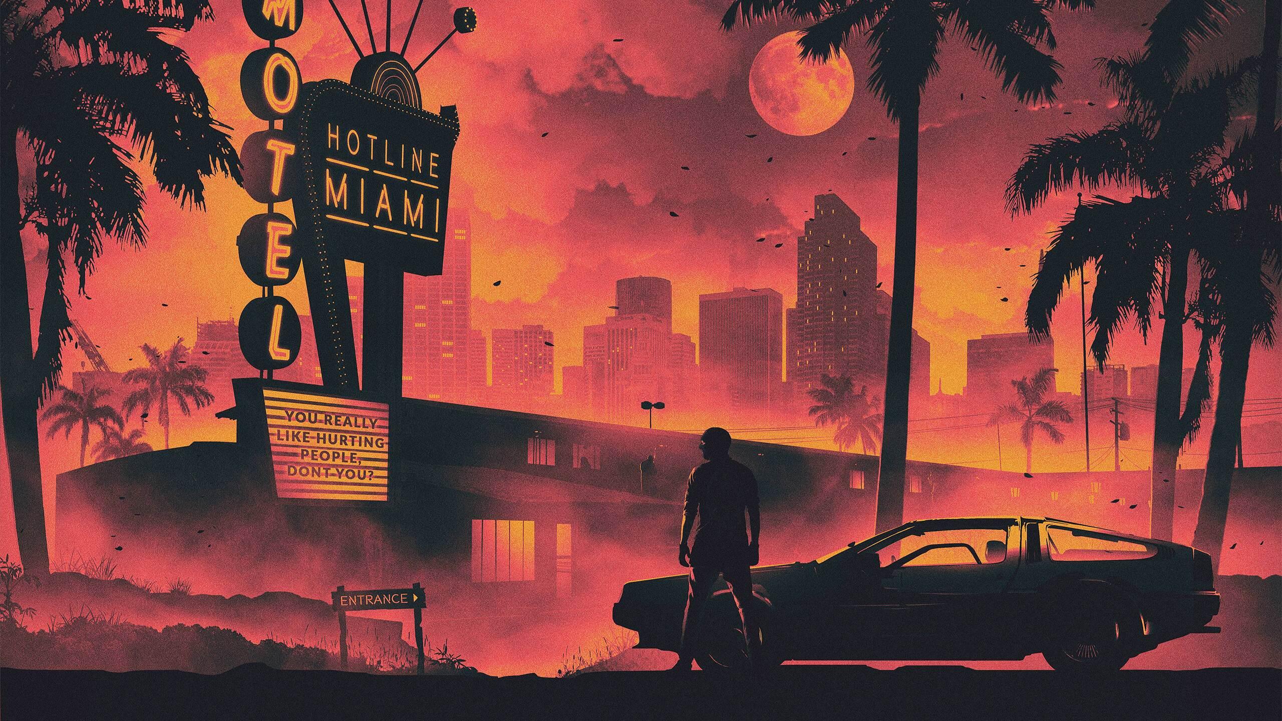 2560x1440 Hotline Miami Game Retro Style Dark Life ...