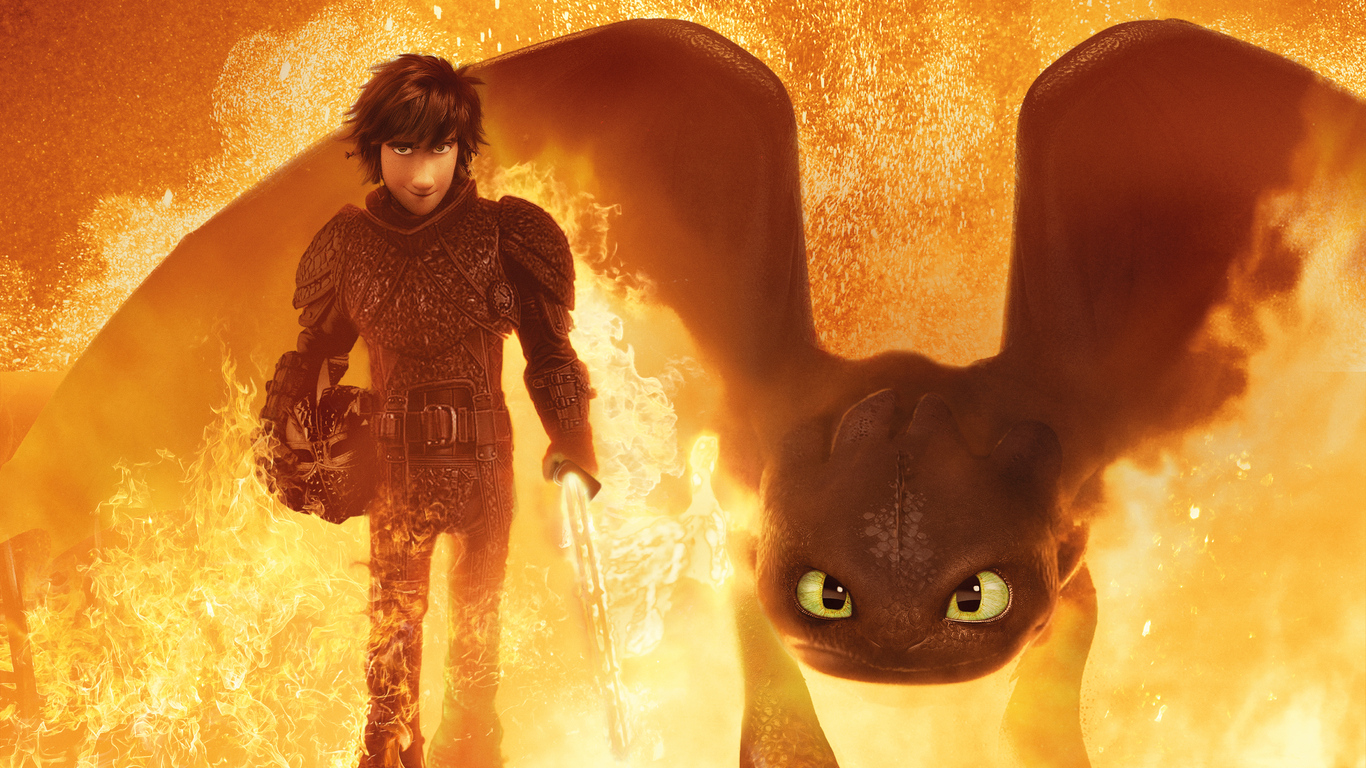 1366x768 How To Train Your Dragon The Hidden World 4k 2019