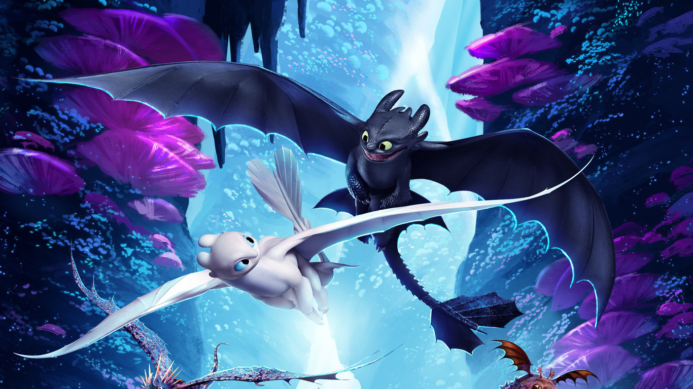 1366x768 How To Train Your Dragon The Hidden World Night
