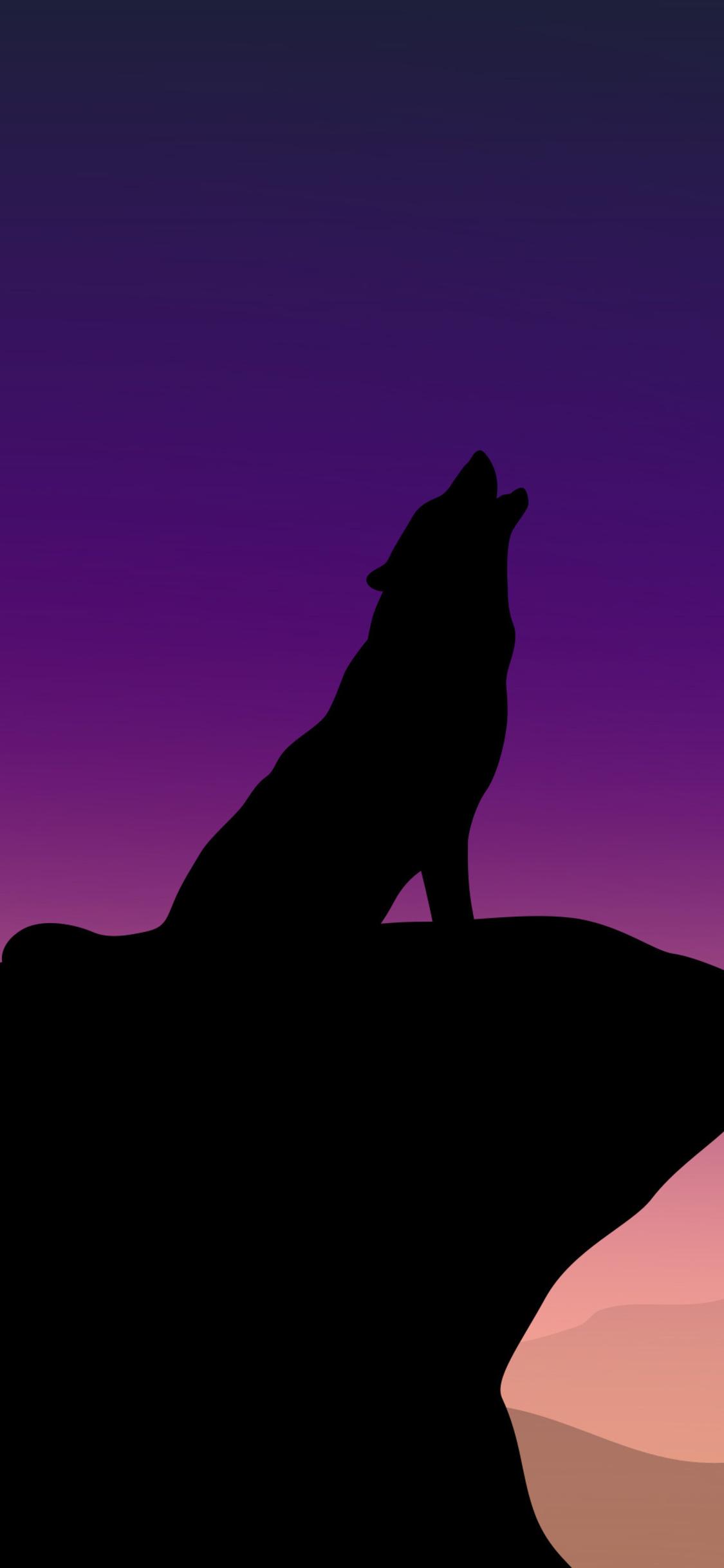 1125x2436 Howling Wolf Minimalism 4k Iphone XS,Iphone 10 ...