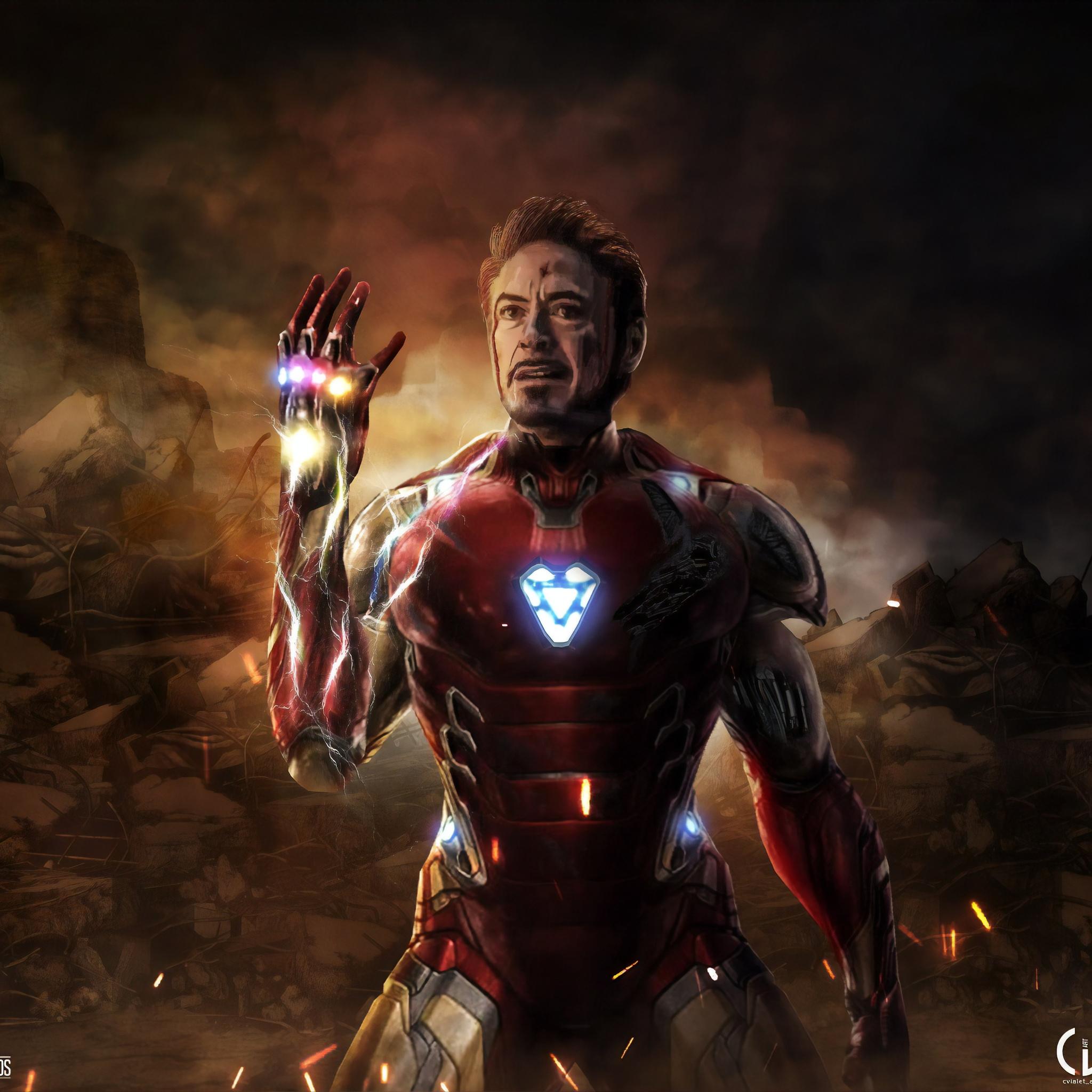 2048x2048 I Am Iron Man Avengers Endgame 5k Ipad Air HD 4k
