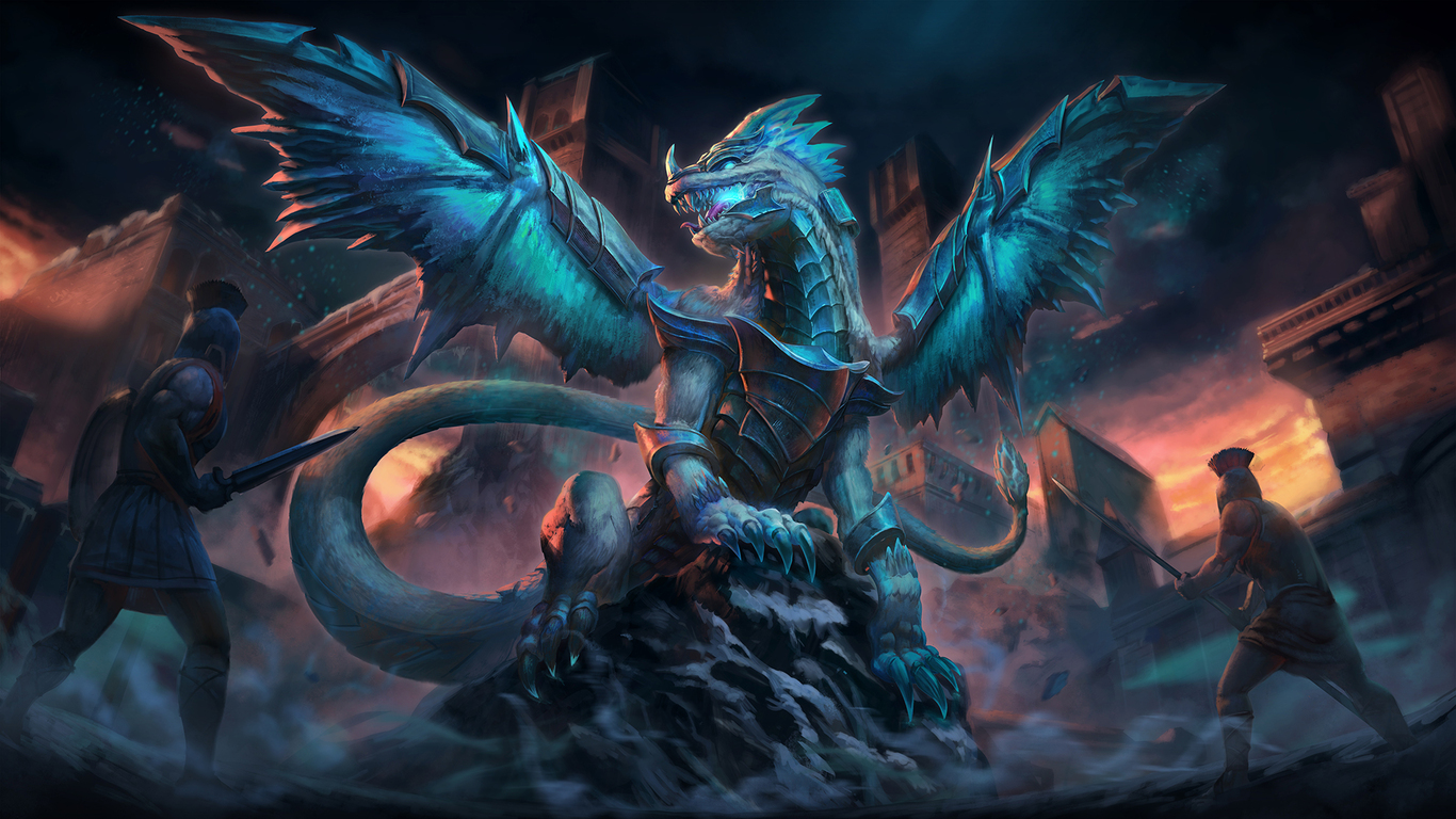 1366x768 ice dragon 1366x768 resolution hd 4k wallpapers images
