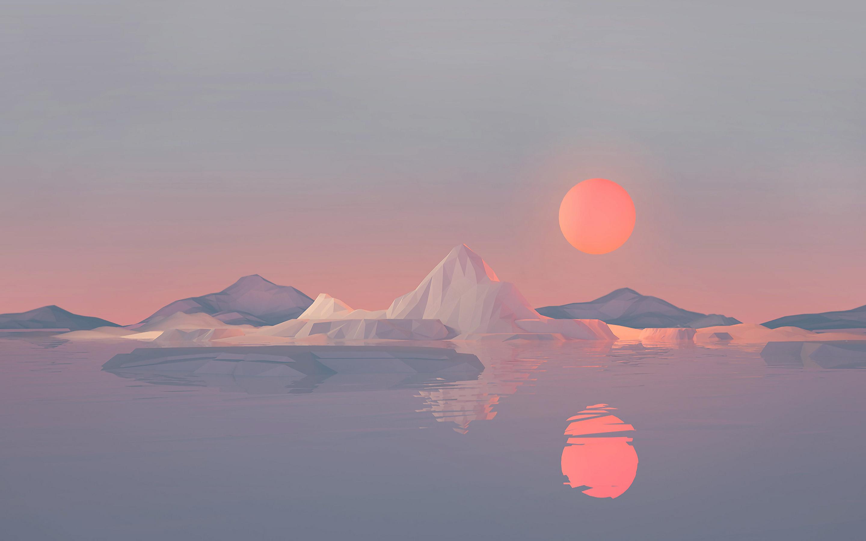 2880x1800 Iceberg Minimalist 4k Macbook Pro Retina HD 4k ...