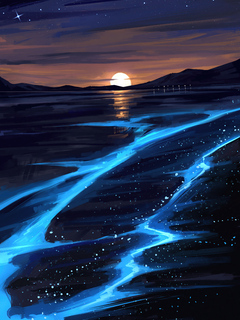 infiniti-sunset-glowing-lake-4k-at.jpg