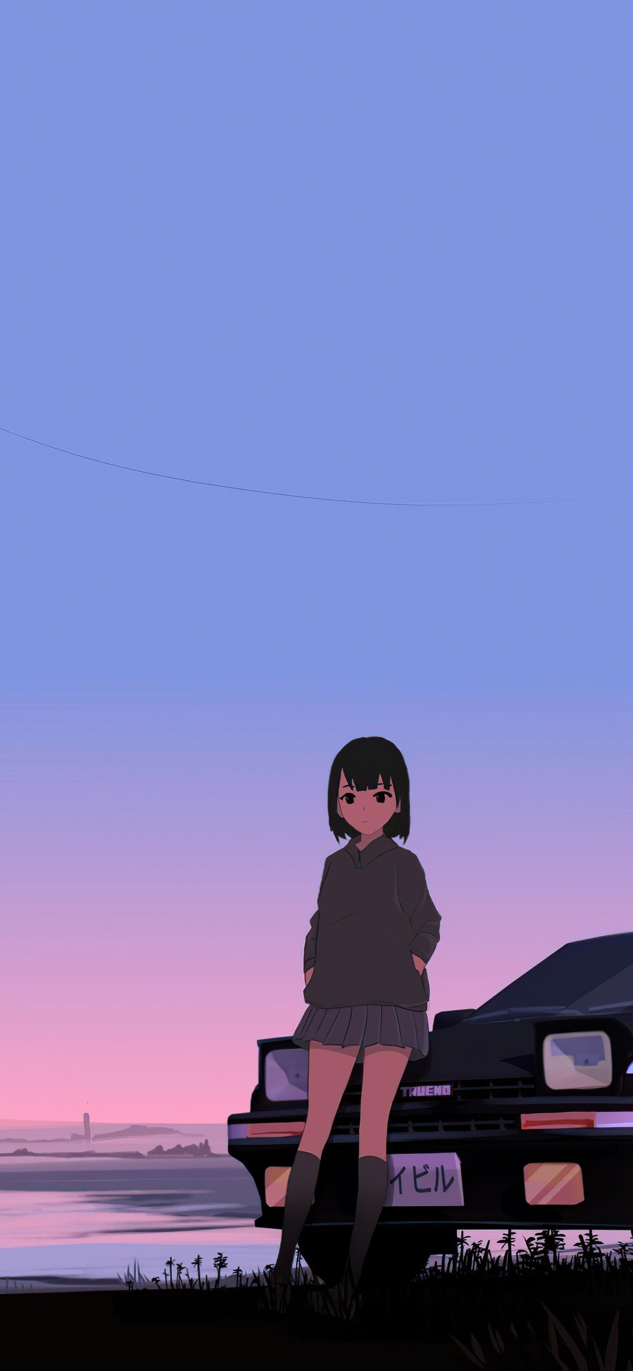 21x21 Initial D Trueno Anime Police Girl 21k Iphone XS MAX HD ...
