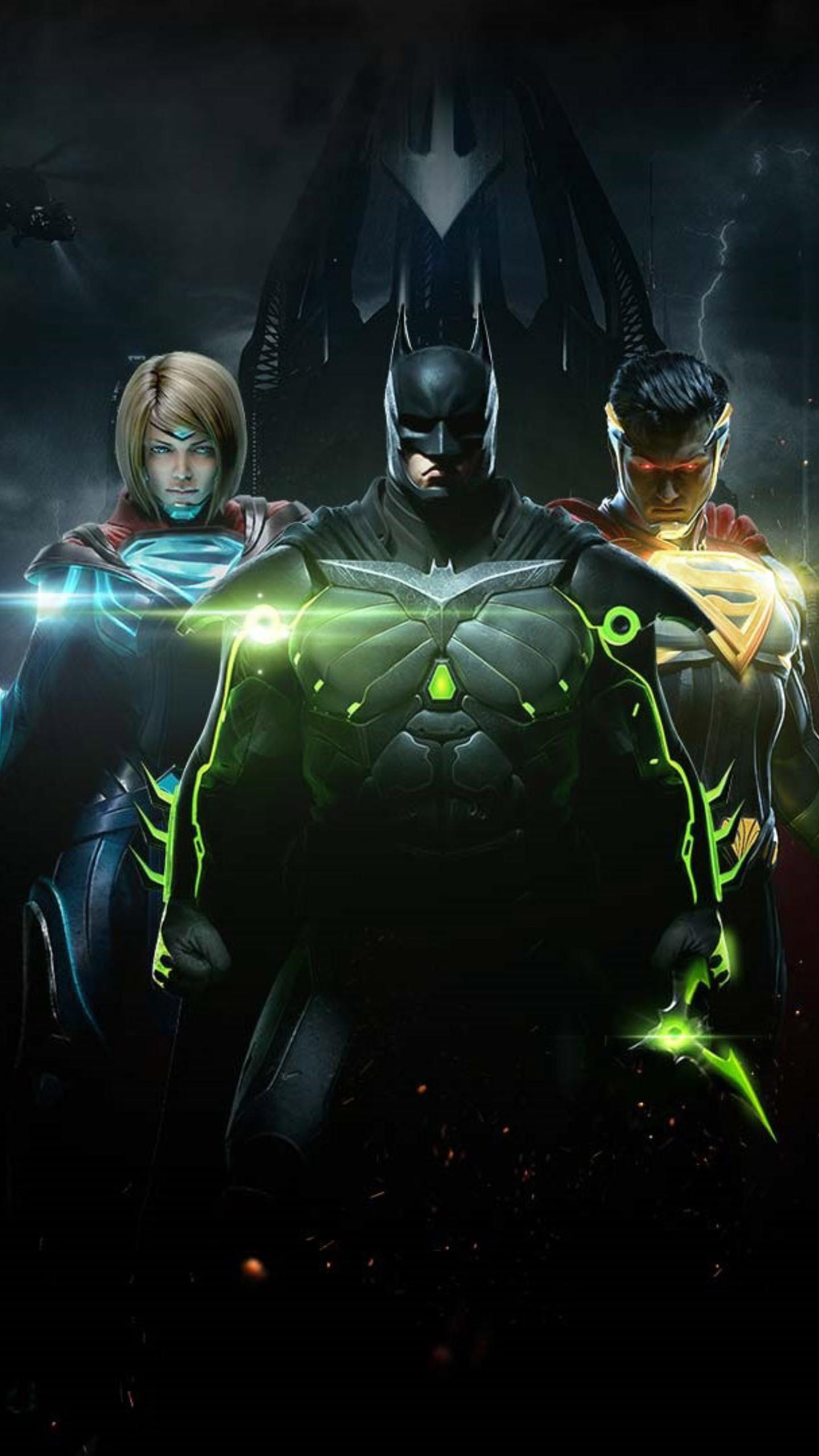 Injustice 2 Batman Superman And Supergirl Qhd