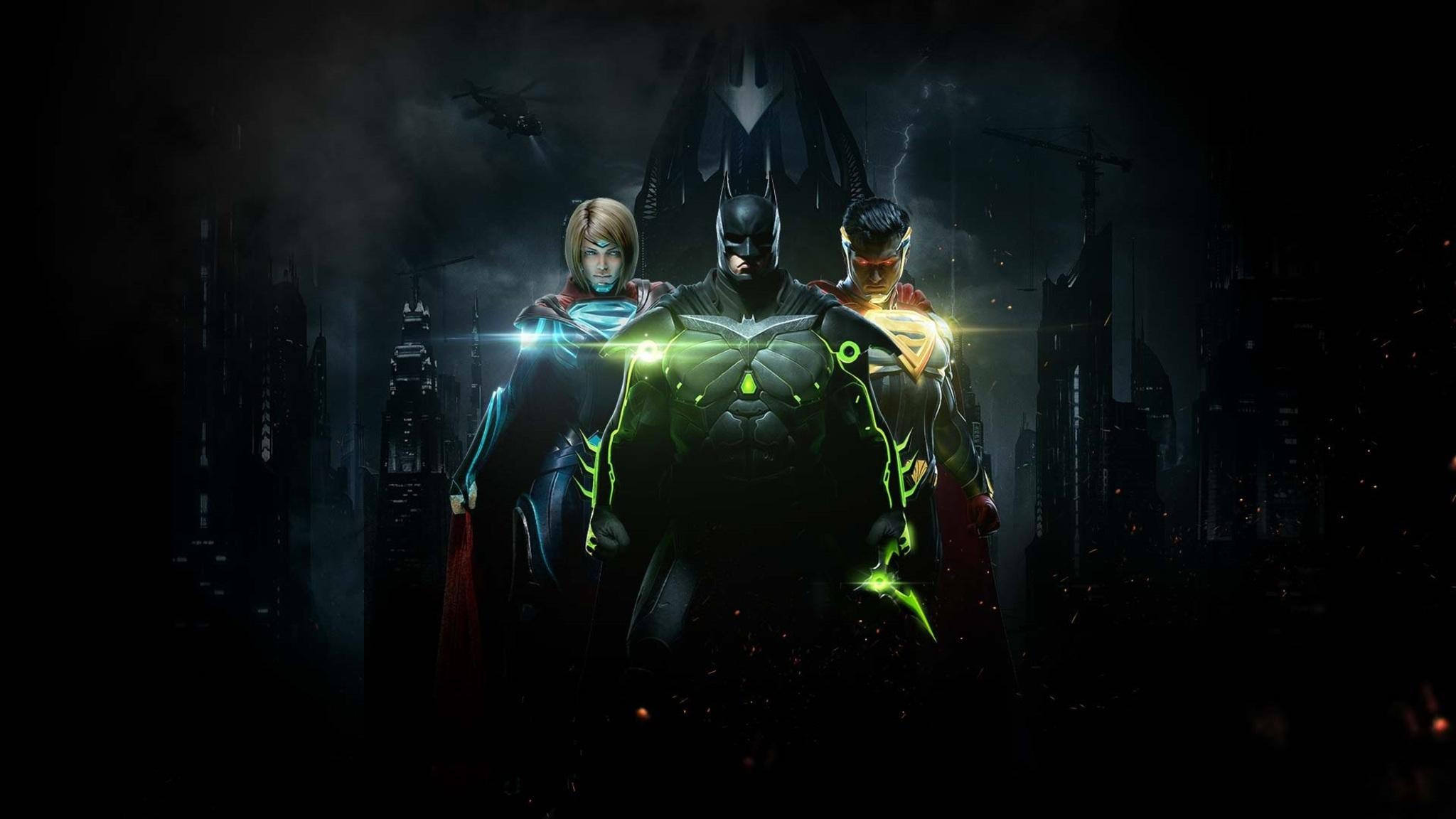 Injustice 2 Superman Hd Games 4k Wallpapers Images: 2048x1152 Injustice 2 Batman Superman And Supergirl