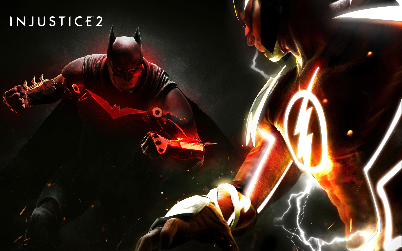 Injustice 2 Fanart Poster Batman Vs Flash 4k