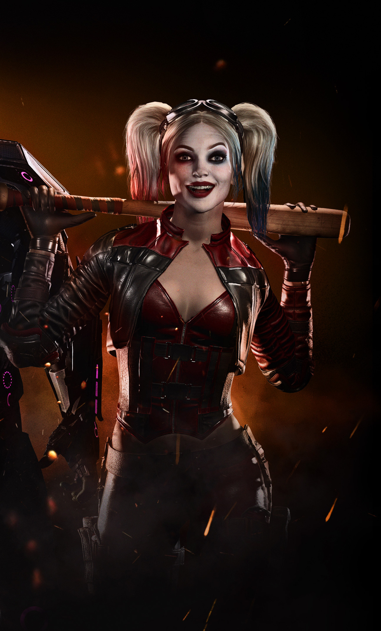 1280x2120 Injustice 2 Supergirl Harley Quinn 4k Iphone 6 Hd