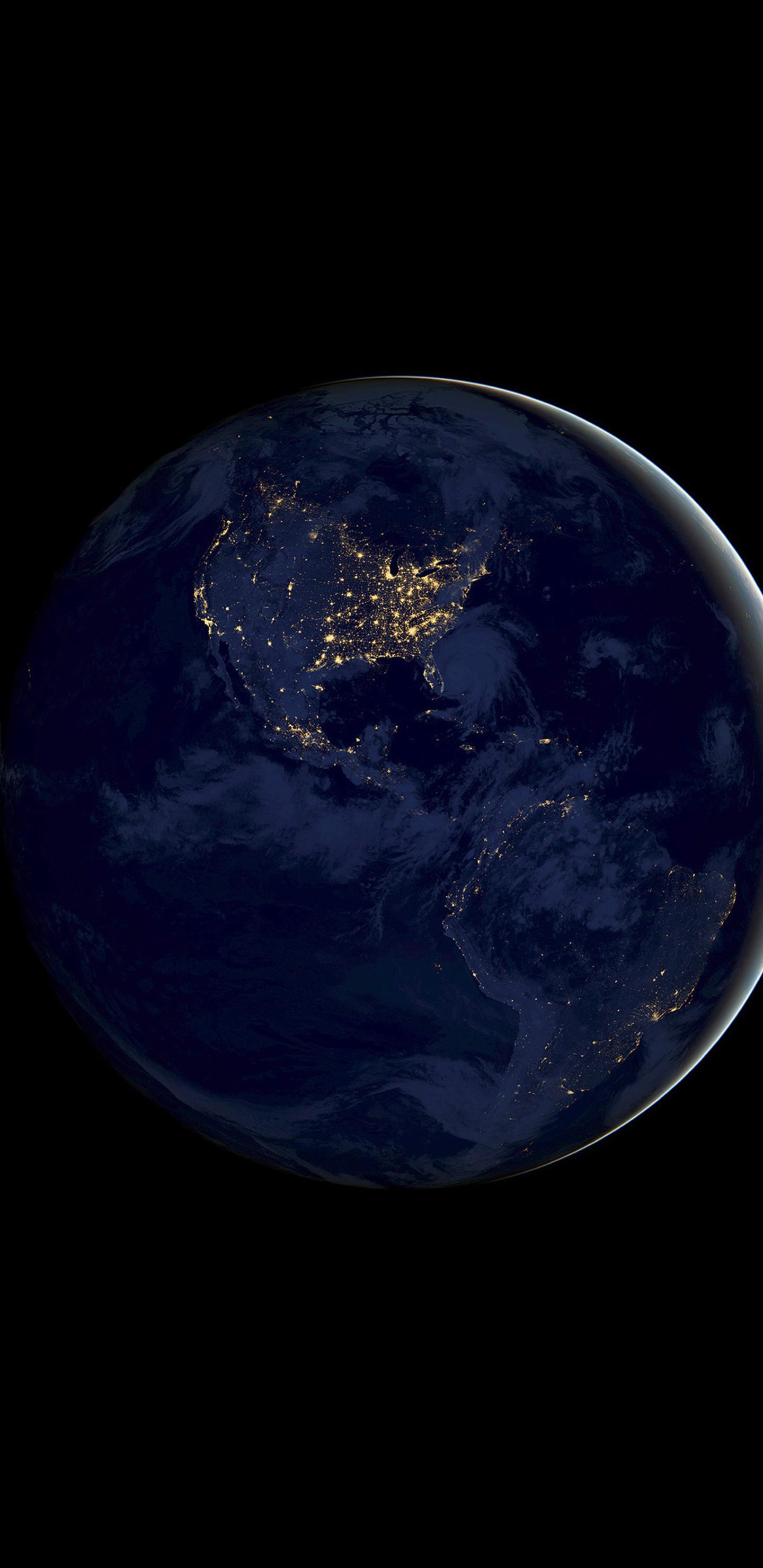 ios 11 earth night 4k pe