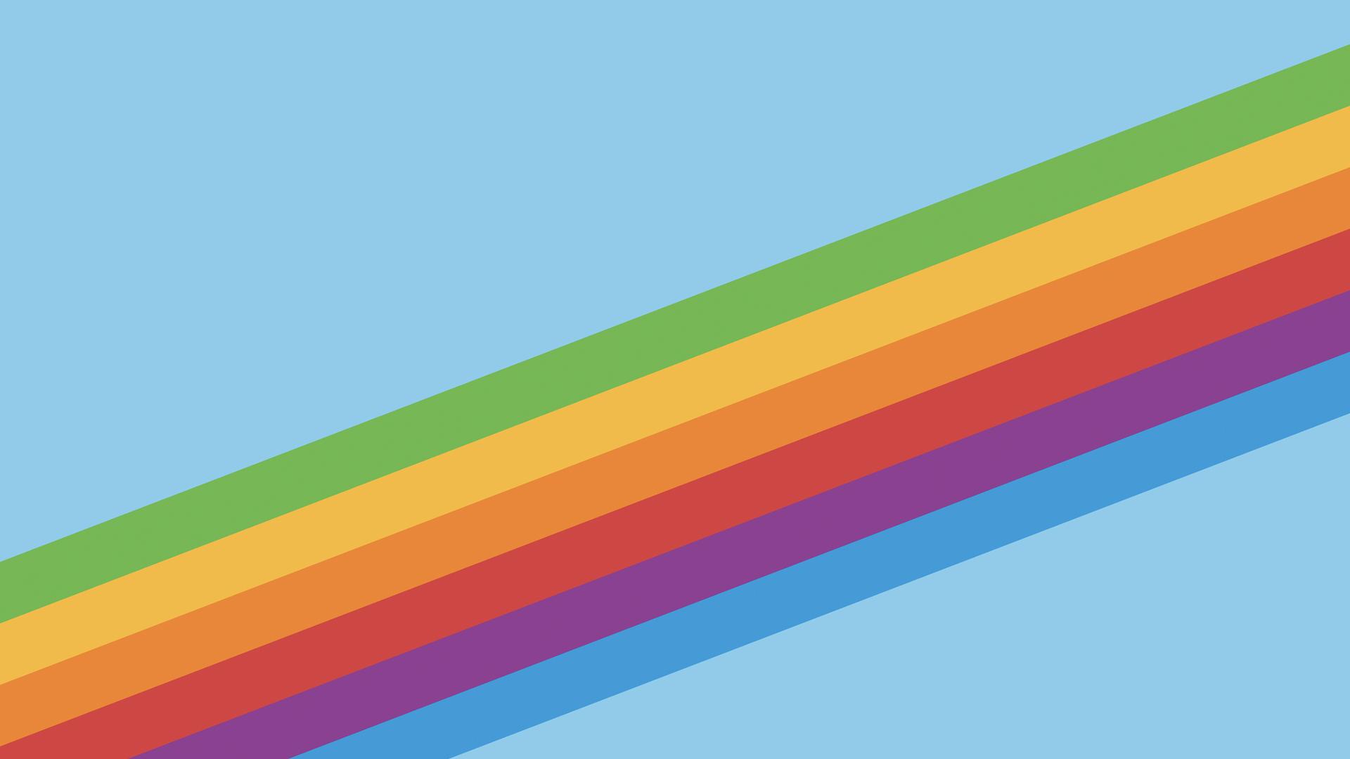 Heritage Rainbow Stripe Iphone X Iphone 8 Ios 11 Stock: 1920x1080 Ios 11 Heritage Stripe Blue Laptop Full HD 1080P