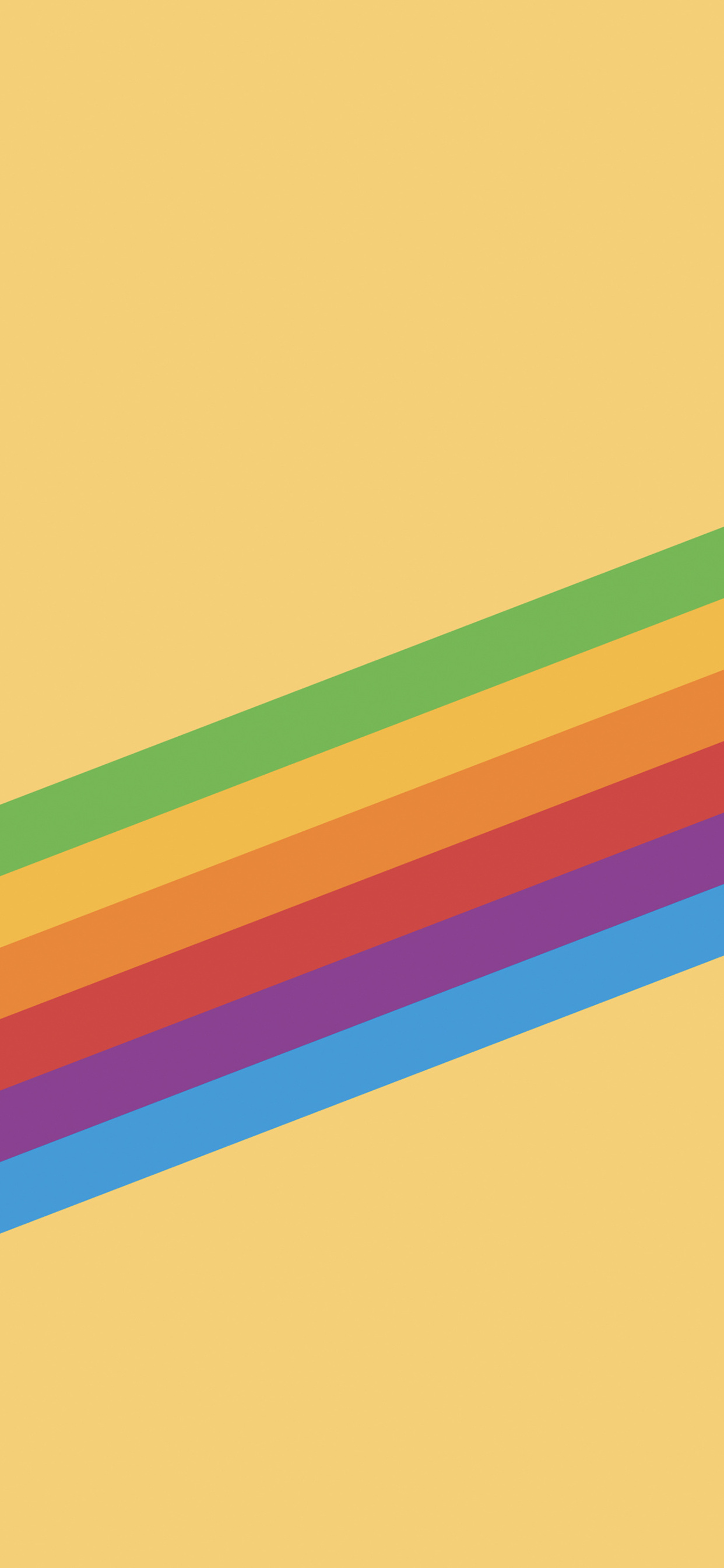 1242x2688 Ios 11 Heritage Stripe Yellow Iphone Xs Max Hd 4k