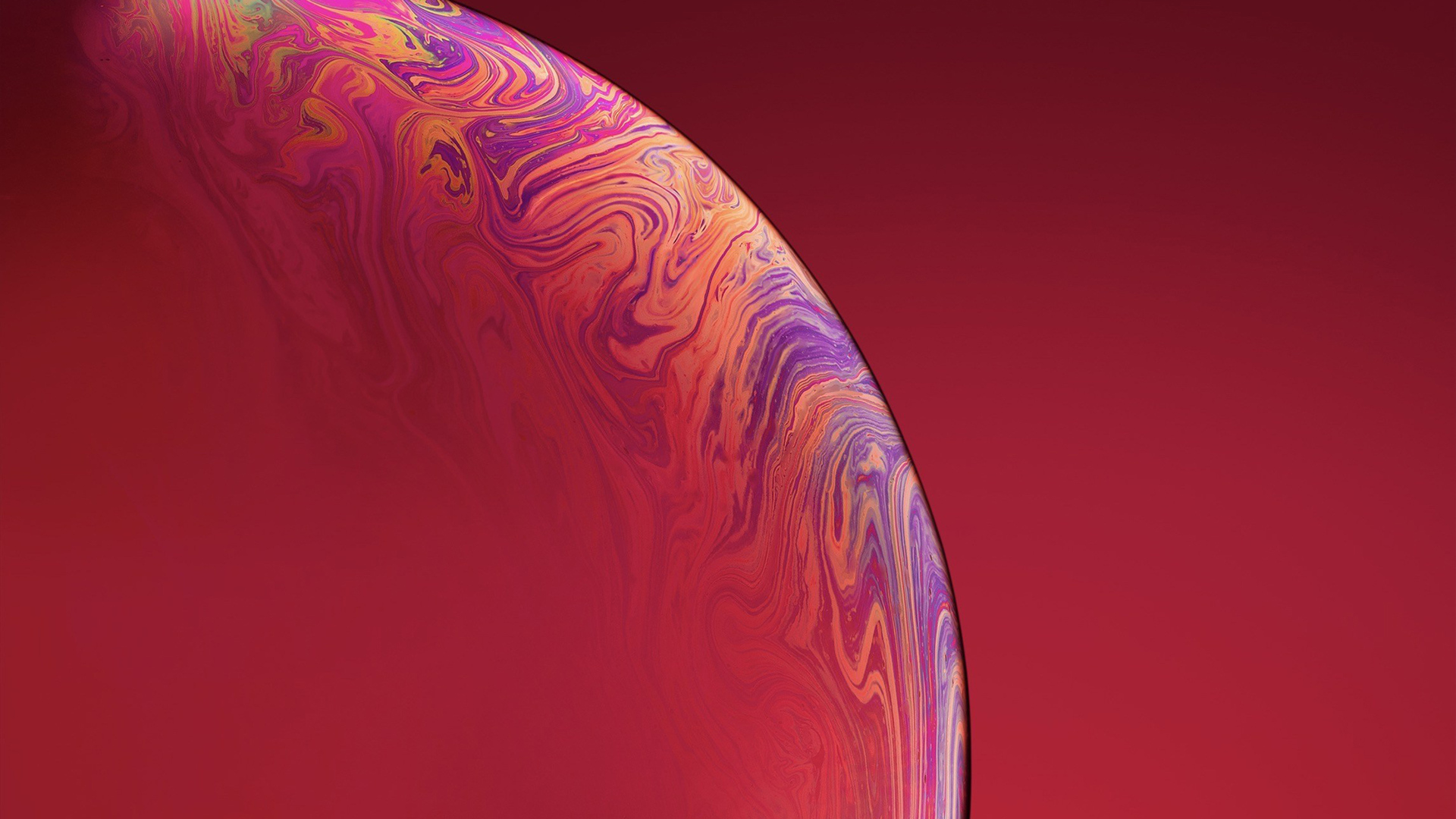 1920x1080 Iphone Xs Double Bubble Red Laptop Full Hd 1080p
