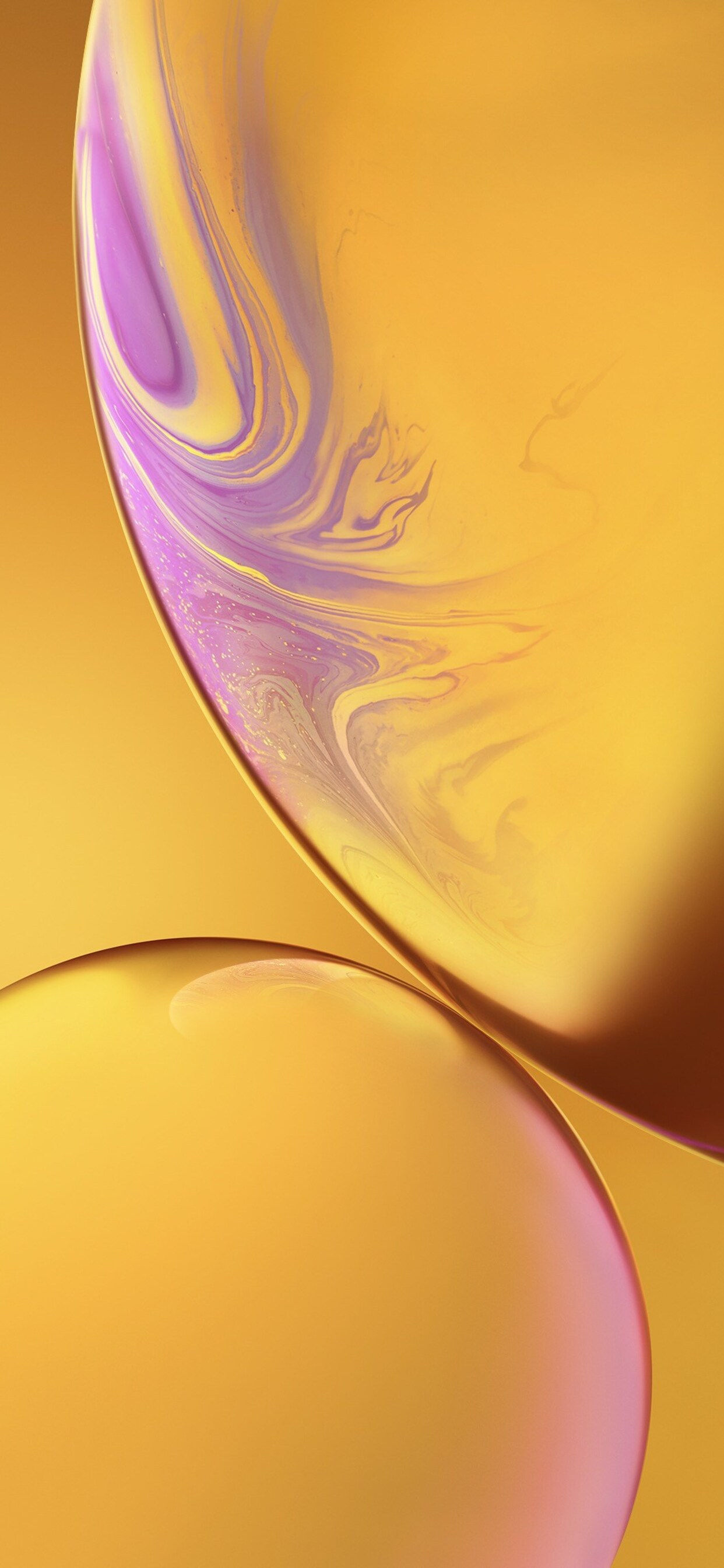 1242x2688 Iphone Xs Double Bubble Yellow Ios 12 Iphone Xs Max Hd 4k Wallpapers Images Backgrounds Photos And Pictures