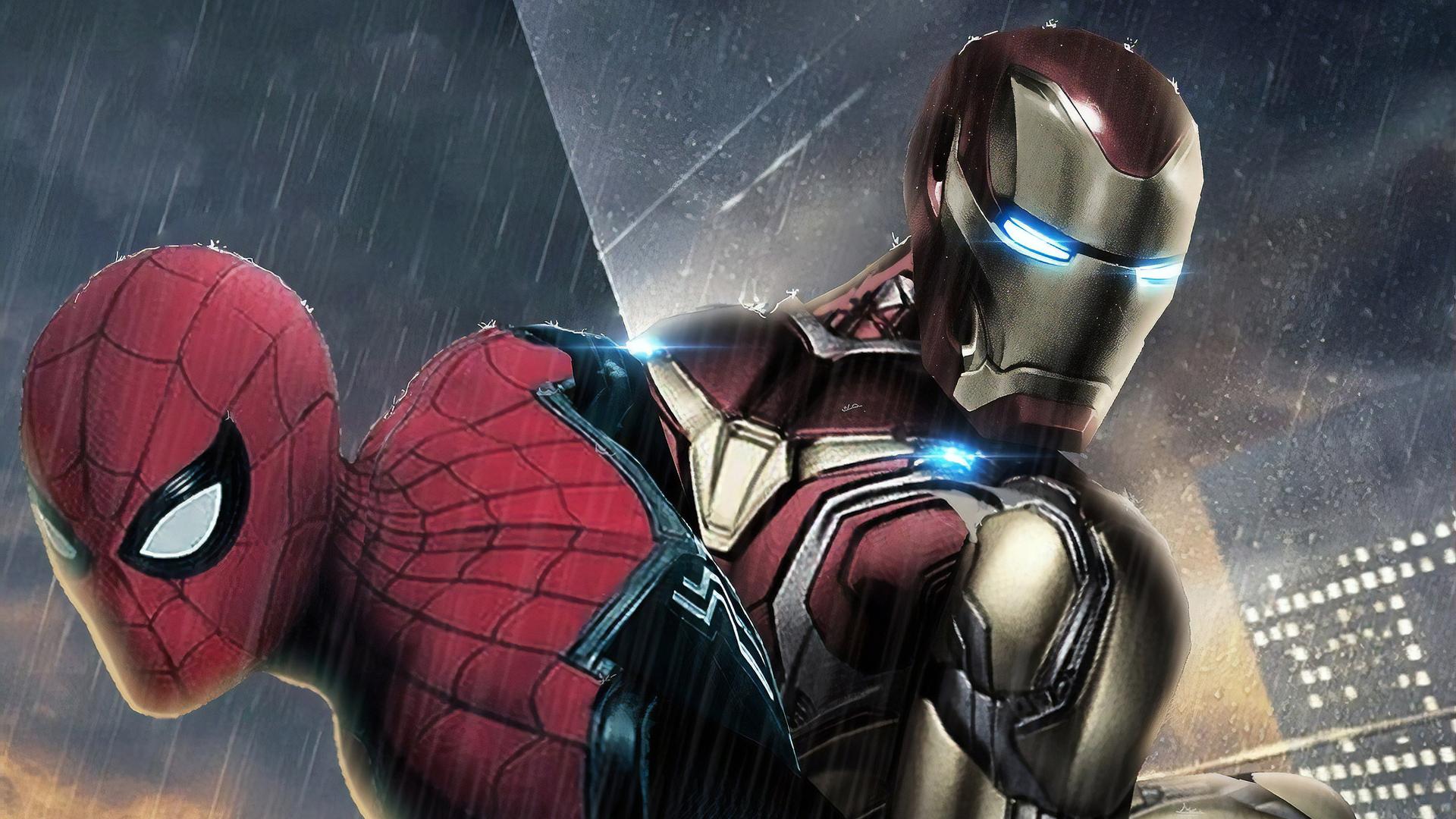 1920x1080 Iron Man And Spiderman Laptop Full Hd 1080p Hd 4k