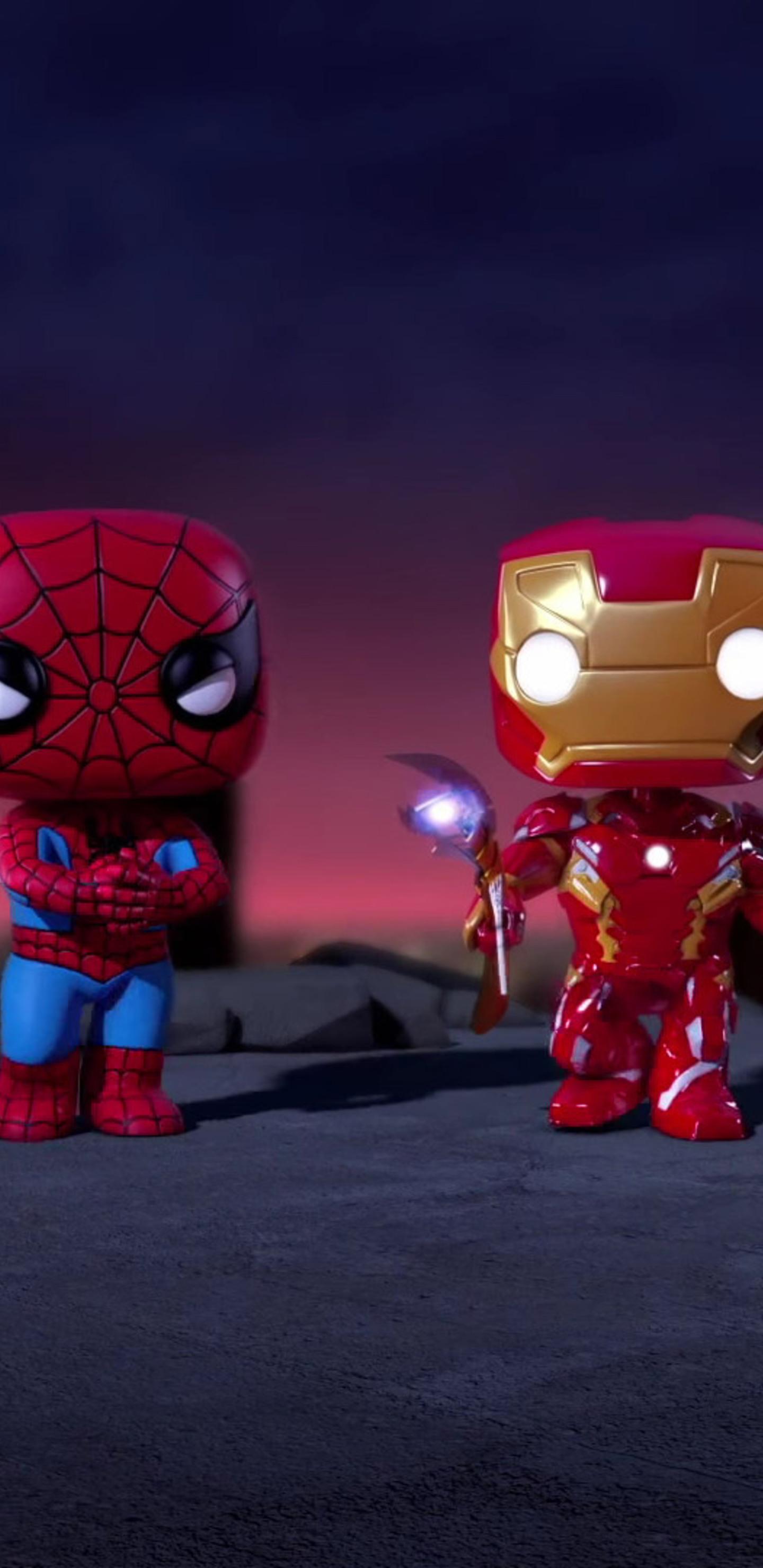 1440x2960 Iron Man And Spiderman Spellbound Animated Movie