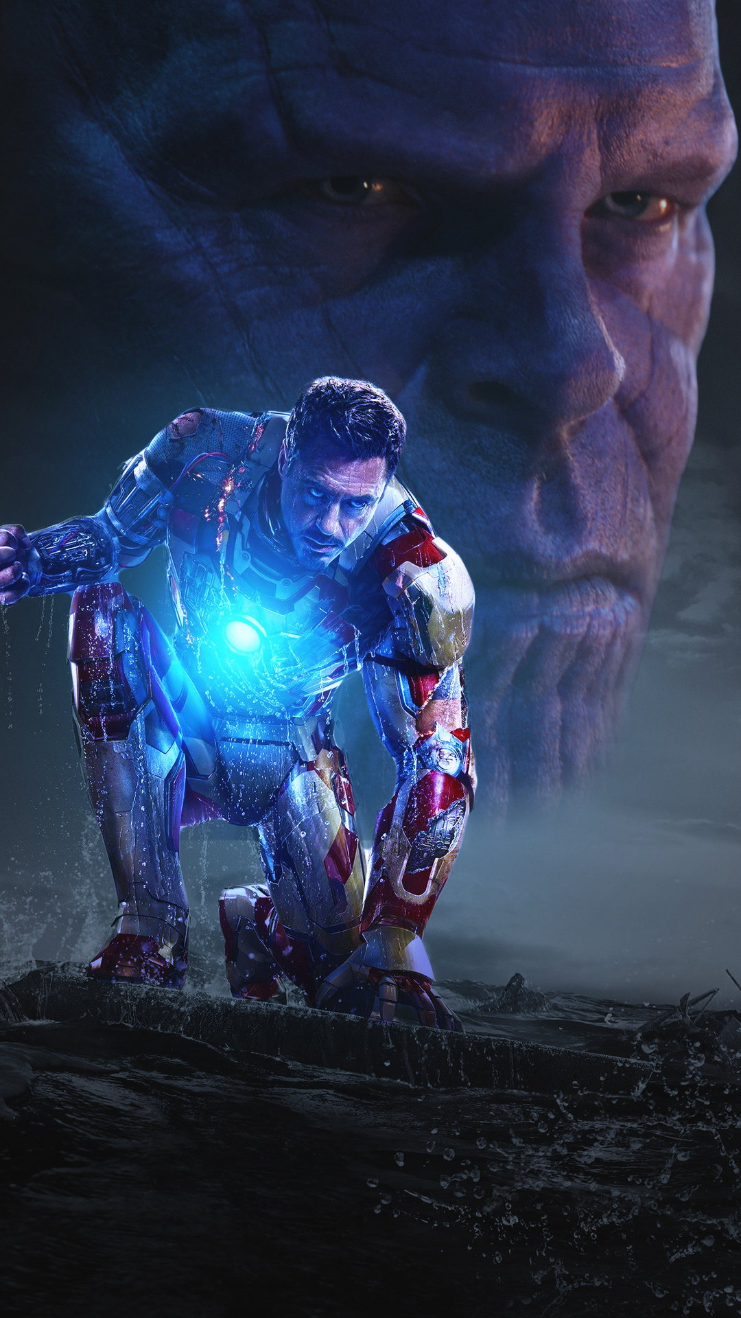 1080x1920 Iron Man And Thanos In Avengers Infinity War Iphone 7 6s 6