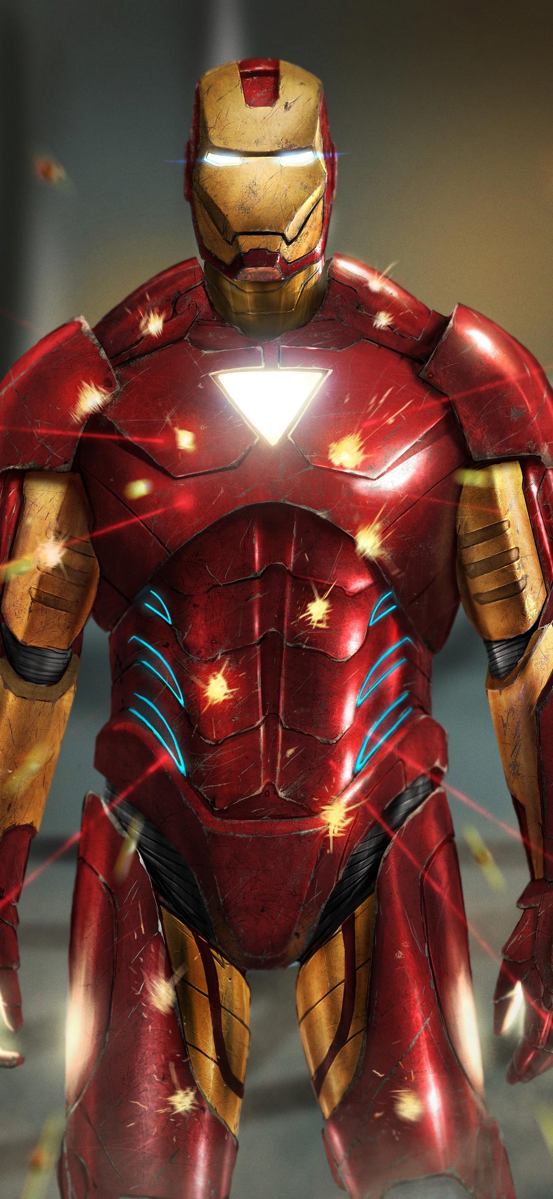 1125x2436 Iron Man Artwork 4k New Iphone XS,Iphone 10 ...