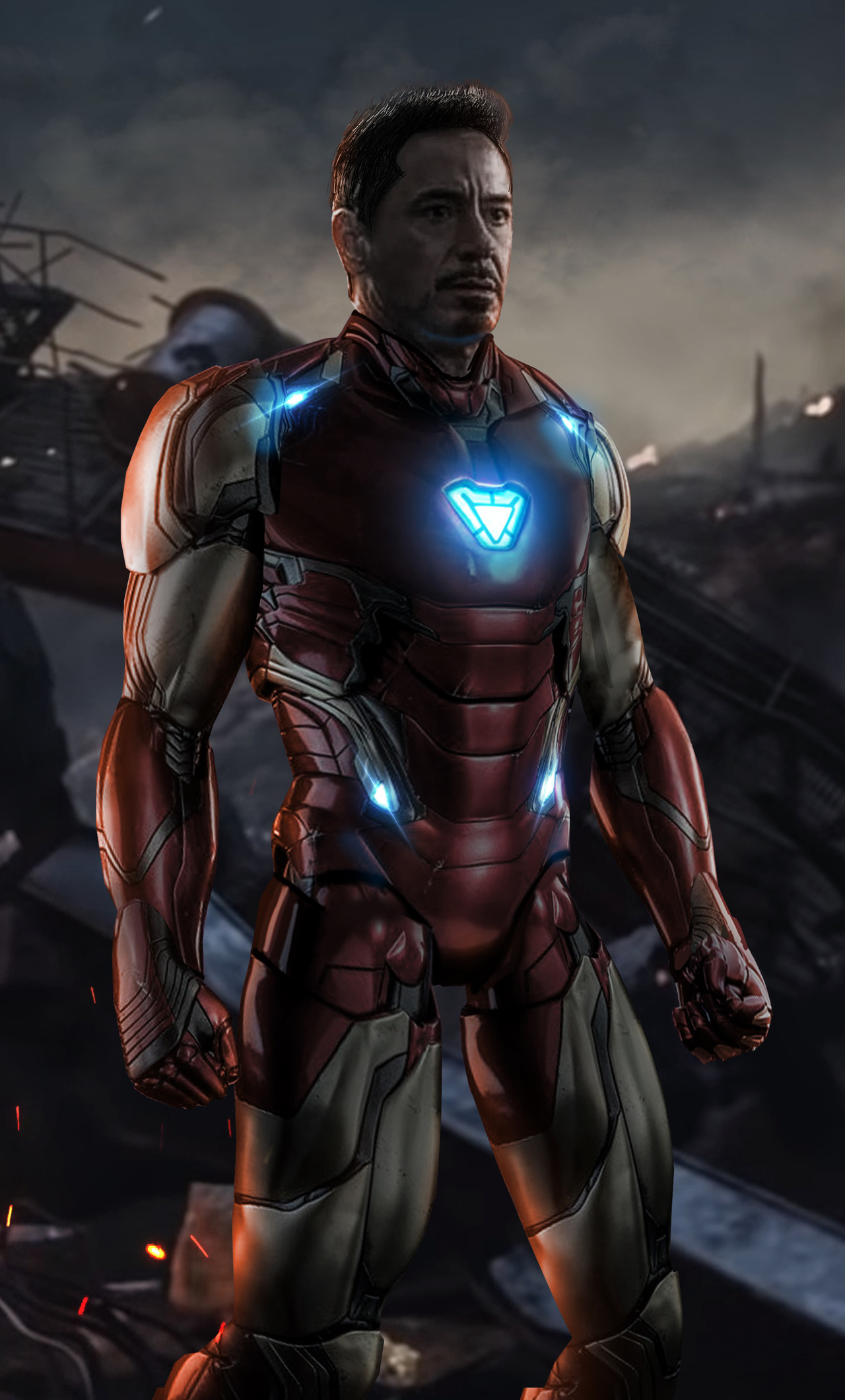 1280x2120 Iron Man Avengers Endgame iPhone 6+ HD 4k ...