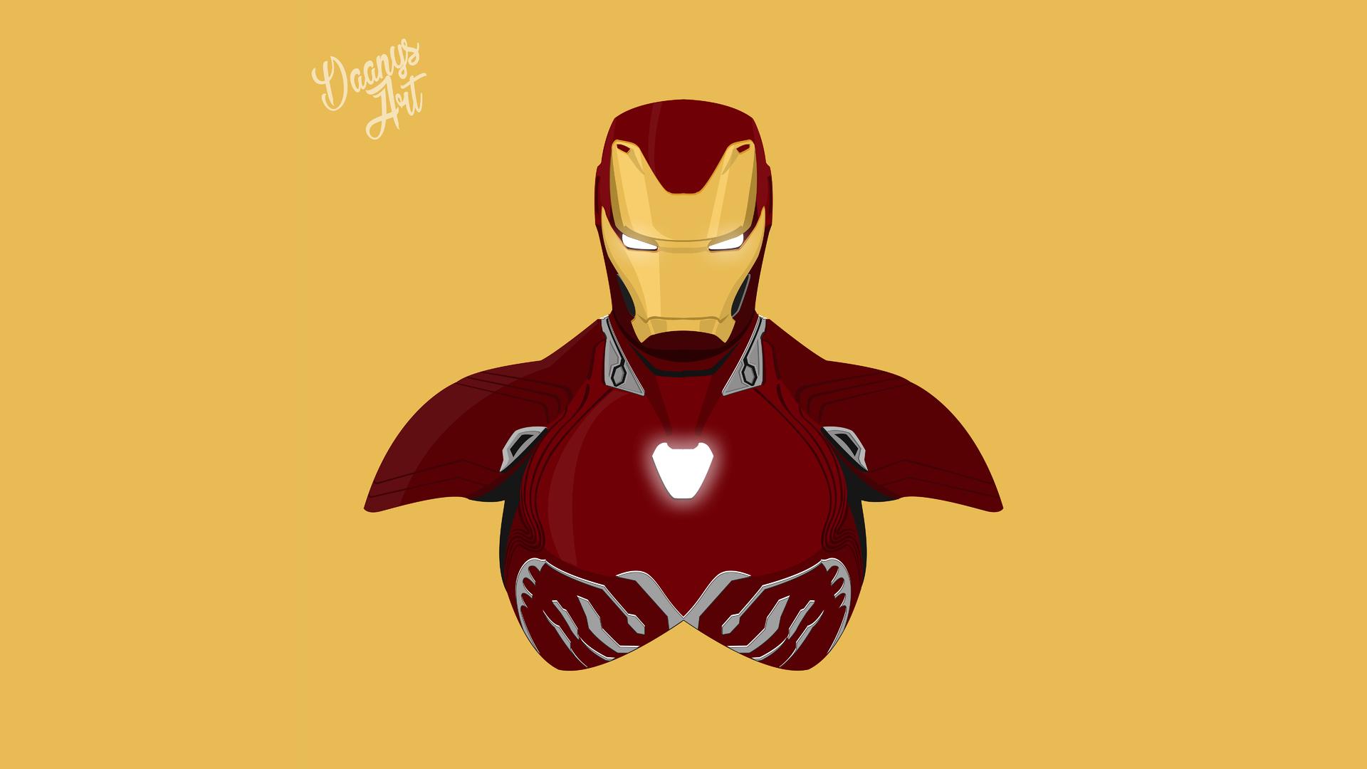 1920x1080 Iron Man Avengers Infinity War 2018 Minimalism 8k Laptop