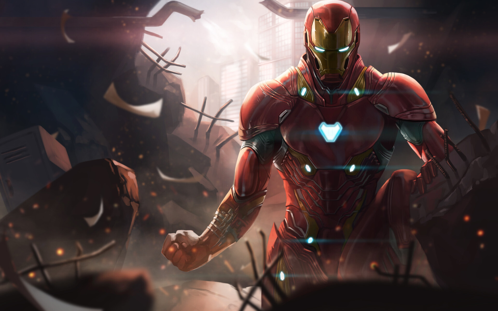 1920x1200 Iron Man Avengers Infinity War Digital Art 1080P ...