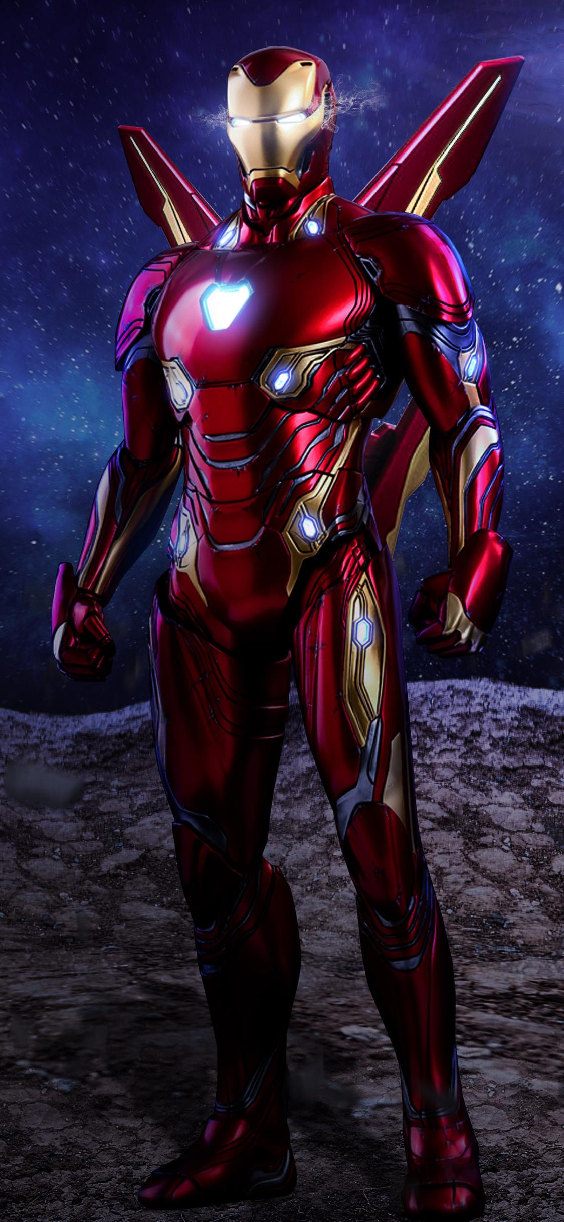 1125x2436 Iron Man Avengers Infinity War Suit Artwork Iphone Xs