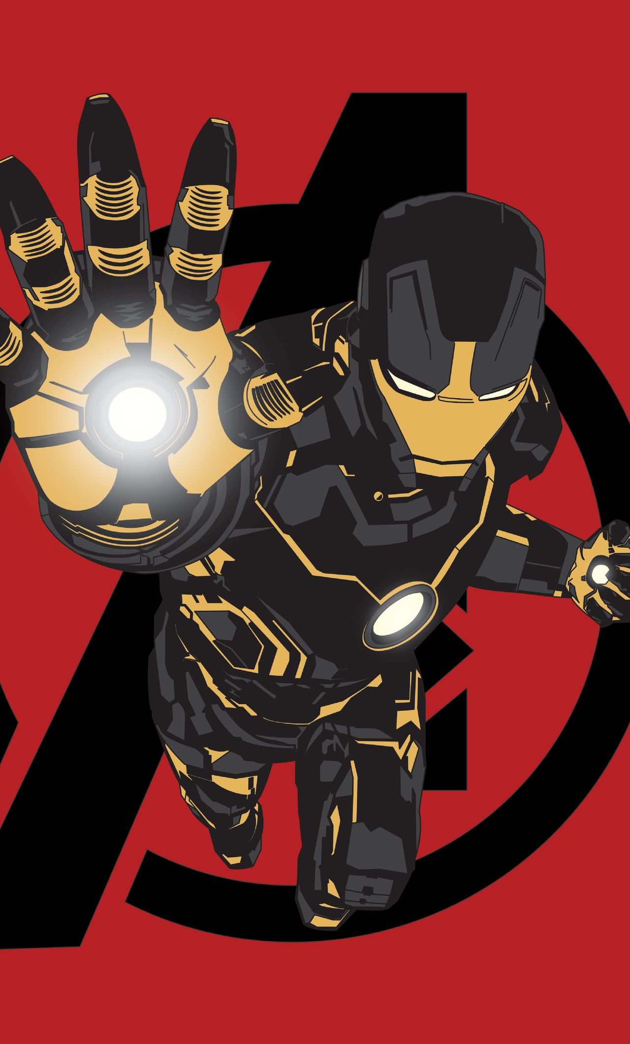 1280x2120 Iron Man Black X Gold Iphone 6 Hd 4k Wallpapers Images