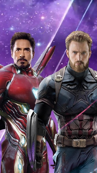 320x568 Iron Man Captain America Thor In Avengers Infinity War