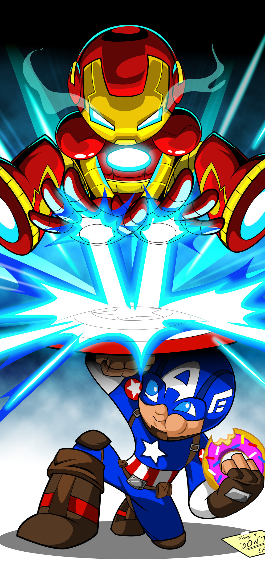 1125x2436 Iron Man Cartoon Digital Art 4k Iphone Xs Iphone 10