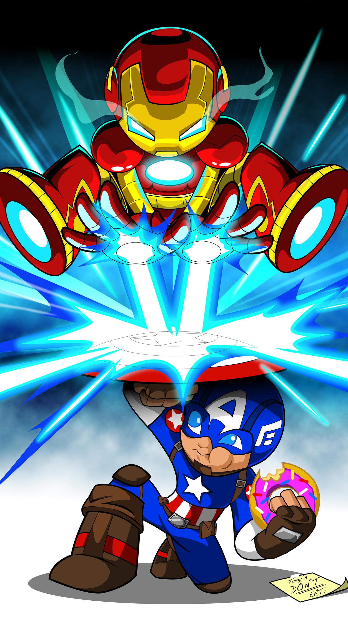 iron man cartoon digital art 4k l3
