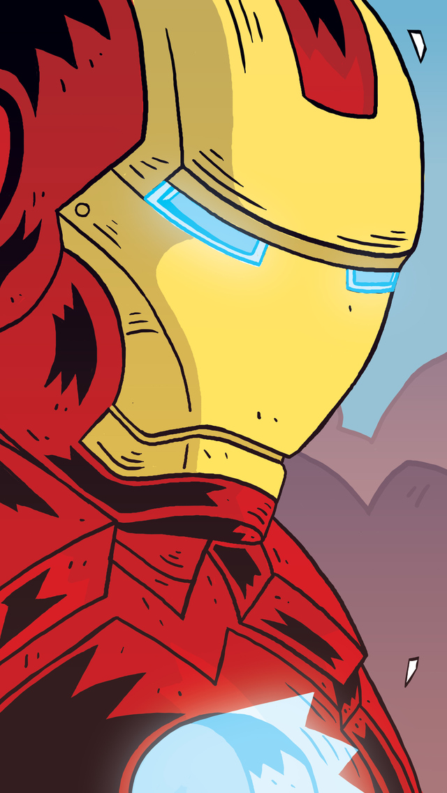 640x1136 Iron Man Comic Cartoon Art Iphone 55c5sse Ipod
