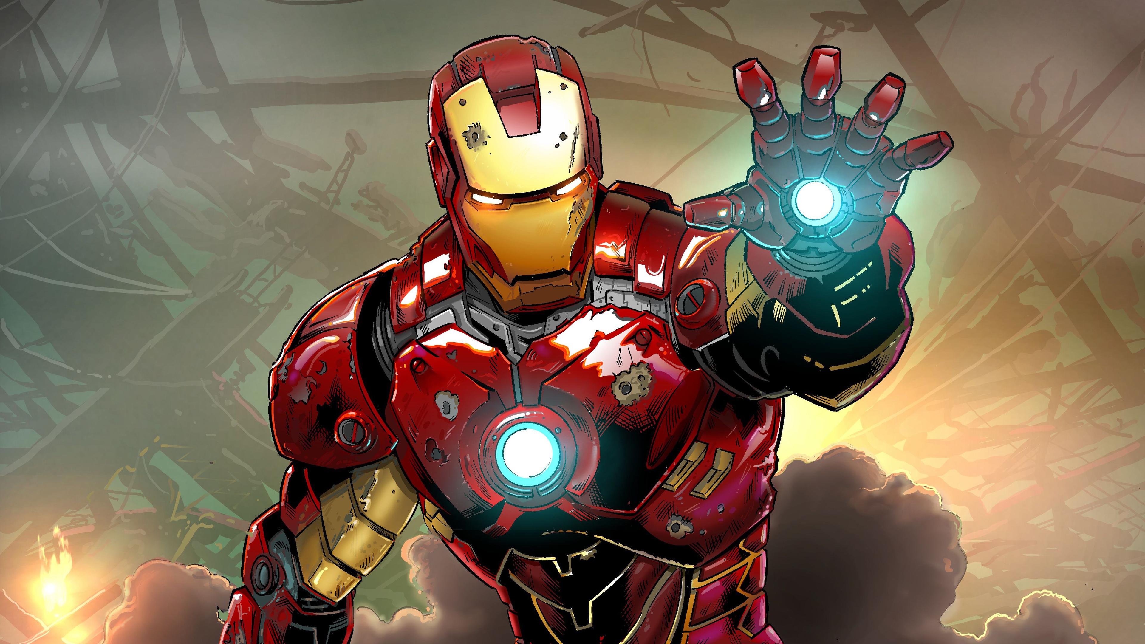 3840x2160 Iron Man Comicart 4k 4k HD 4k Wallpapers, Images ...