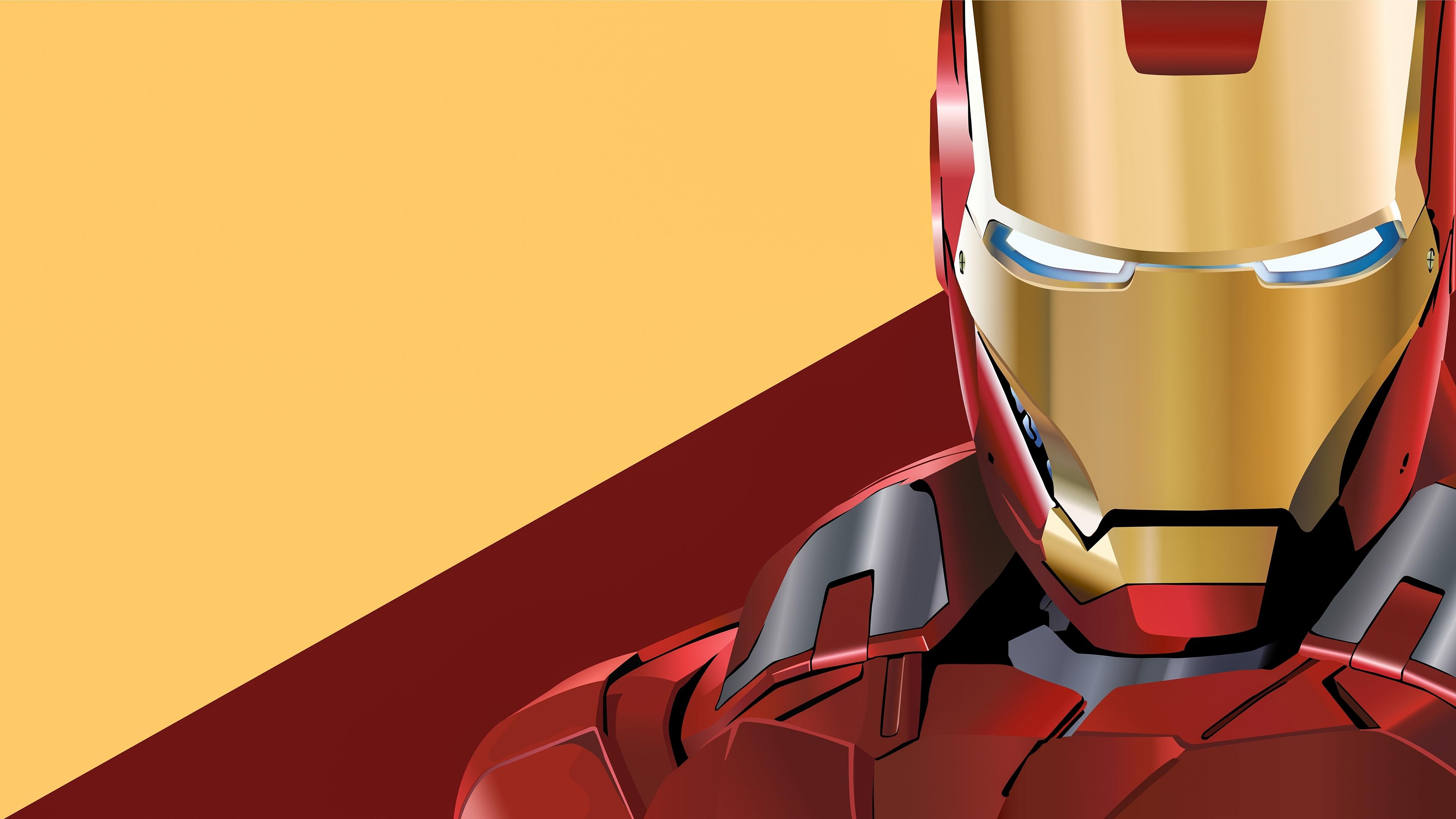 iron man digital artwork 4k v0