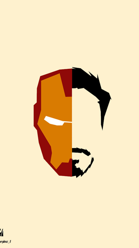 480x854 Iron Man Face Minimalism Android One Hd 4k Wallpapers