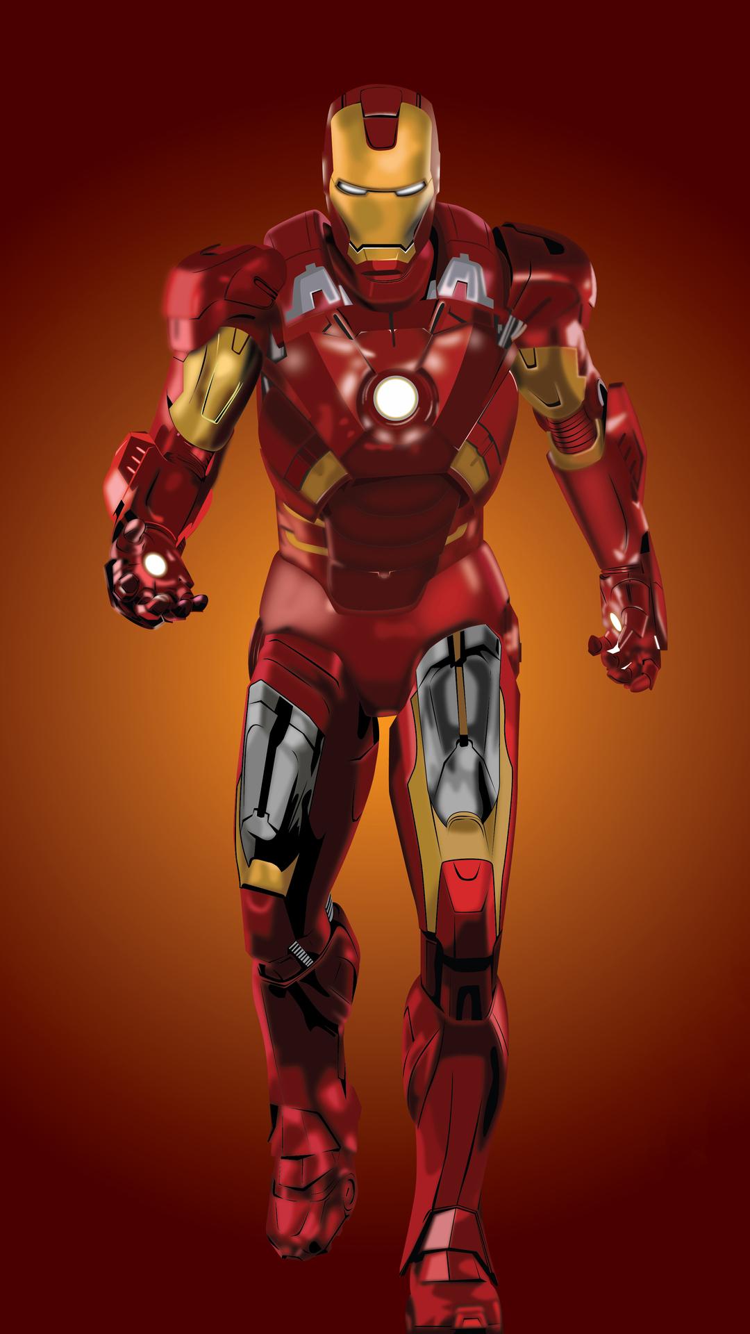 1080x1920 Iron Man Fan Art 4k Iphone 7,6s,6 Plus, Pixel xl