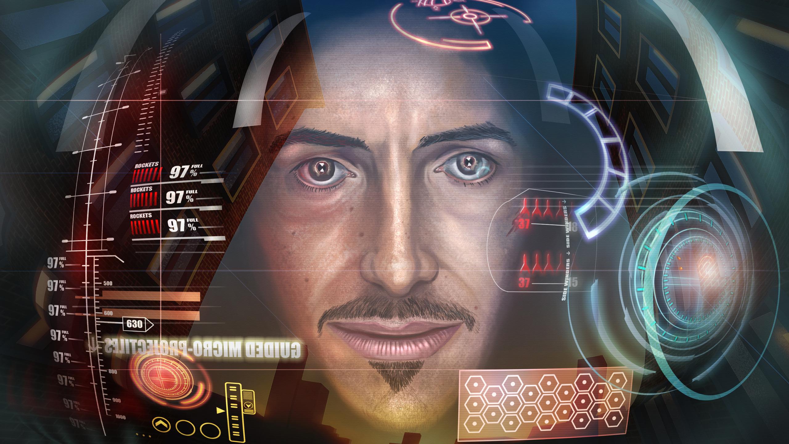 2560x1440 Iron Man Hud Inside 1440p Resolution Hd 4k