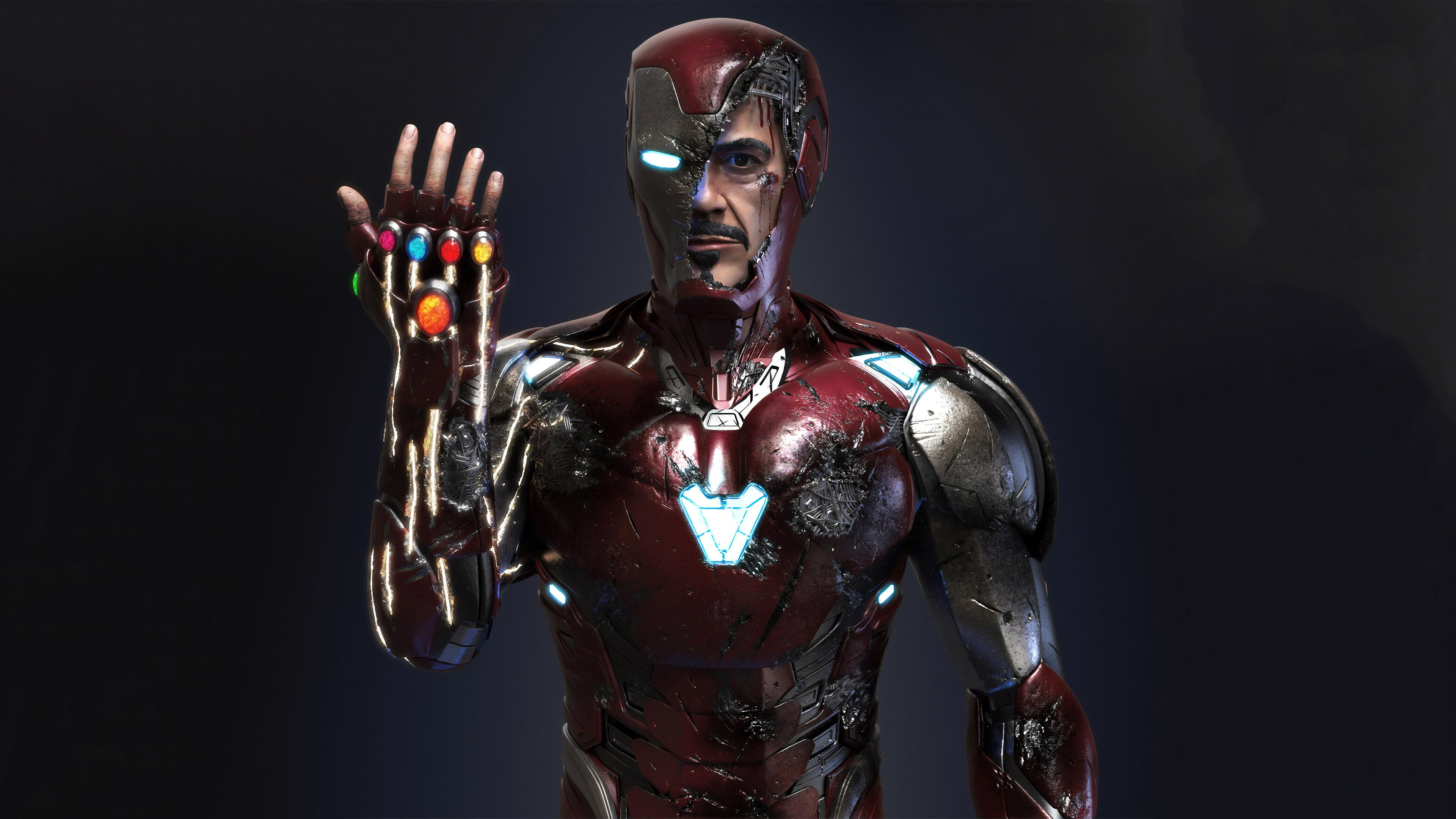 3840x2160 Iron Man Infinity Gauntlet 4k Art 4k Hd 4k