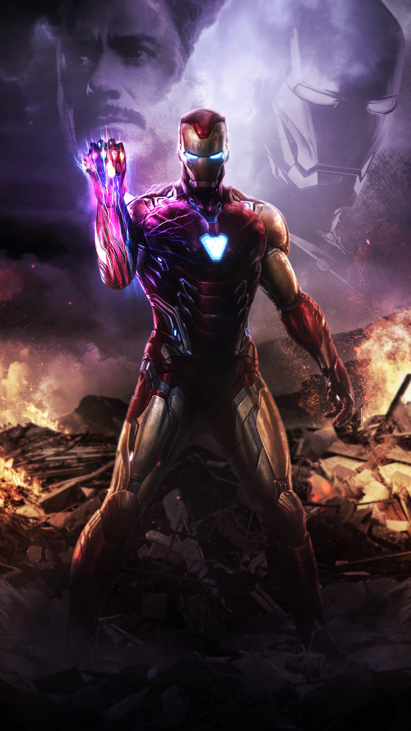 1440x2560 Iron Man Infinity Gauntlet 4k Samsung Galaxy S6s7
