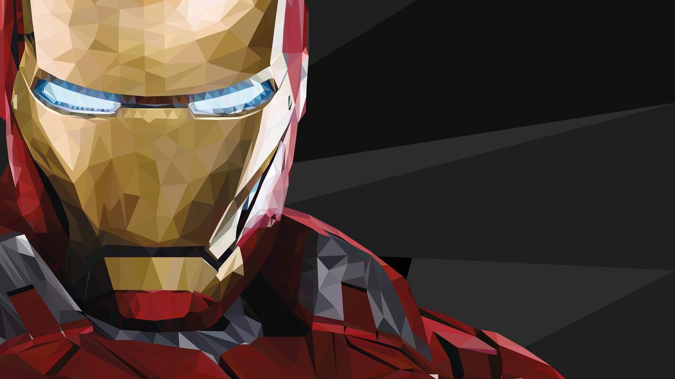 1366x768 Iron Man Low Poly 1366x768 Resolution Hd 4k