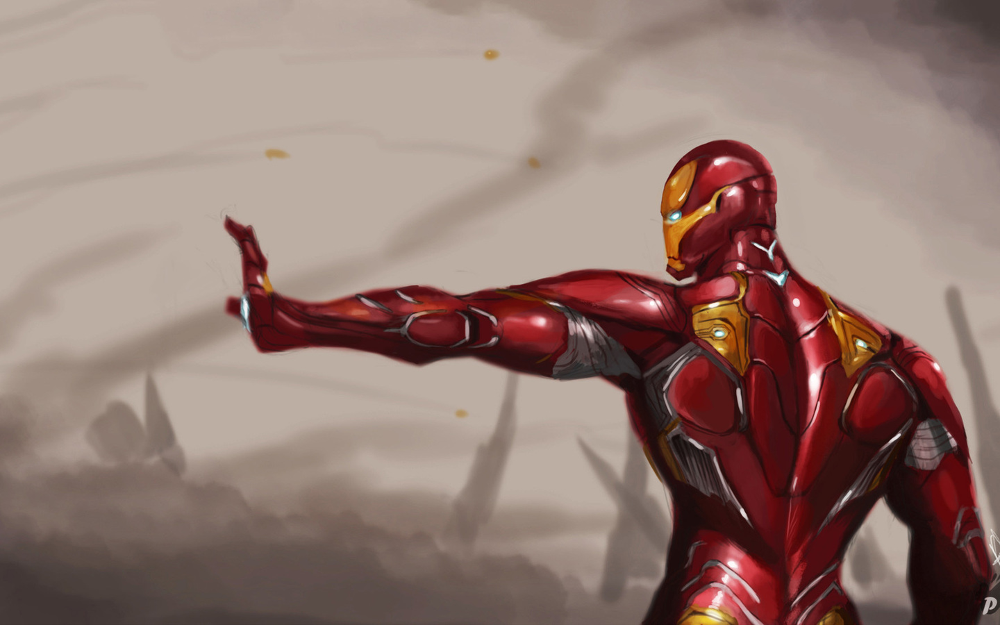 1440x900 Iron Man Mark 50 Suit Avengers Infinity War