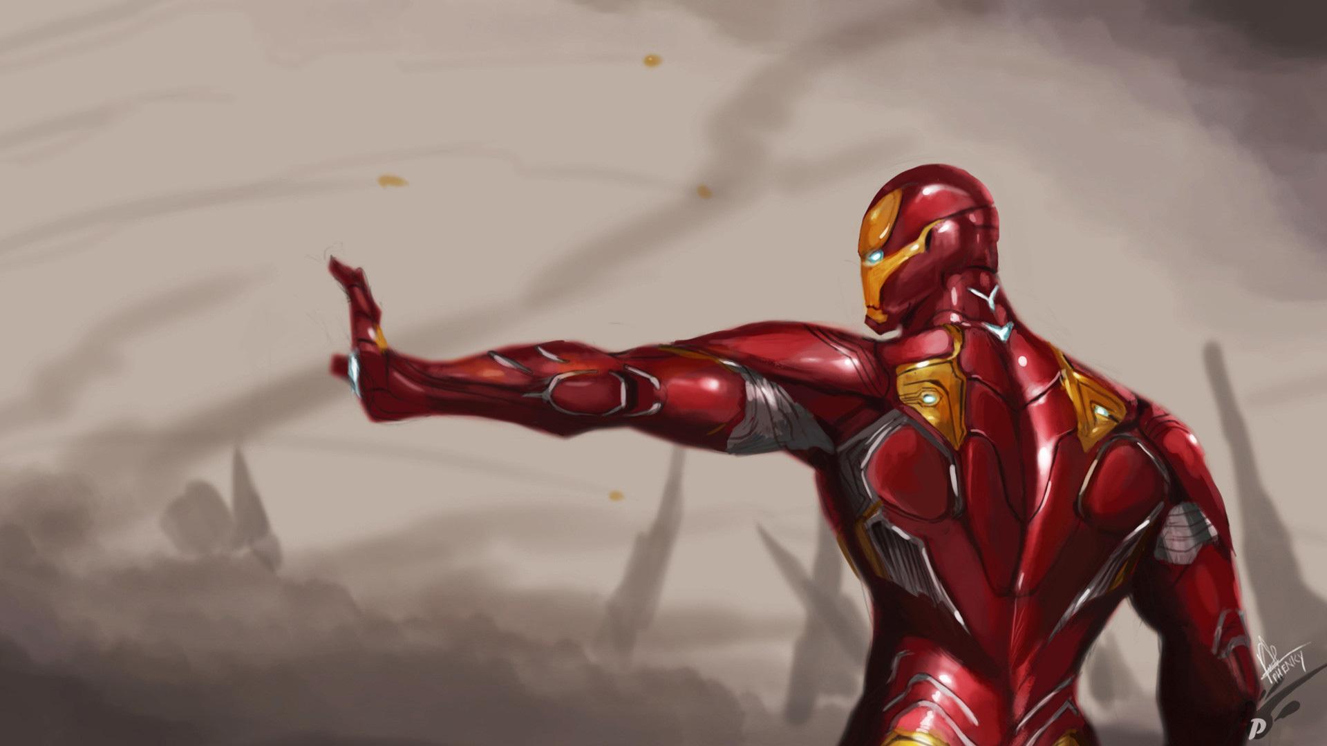 1920x1080 Iron Man Mark 50 Suit Avengers Infinity War Laptop