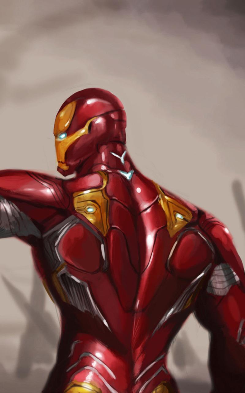 800x1280 Iron Man Mark 50 Suit Avengers Infinity War Nexus 7