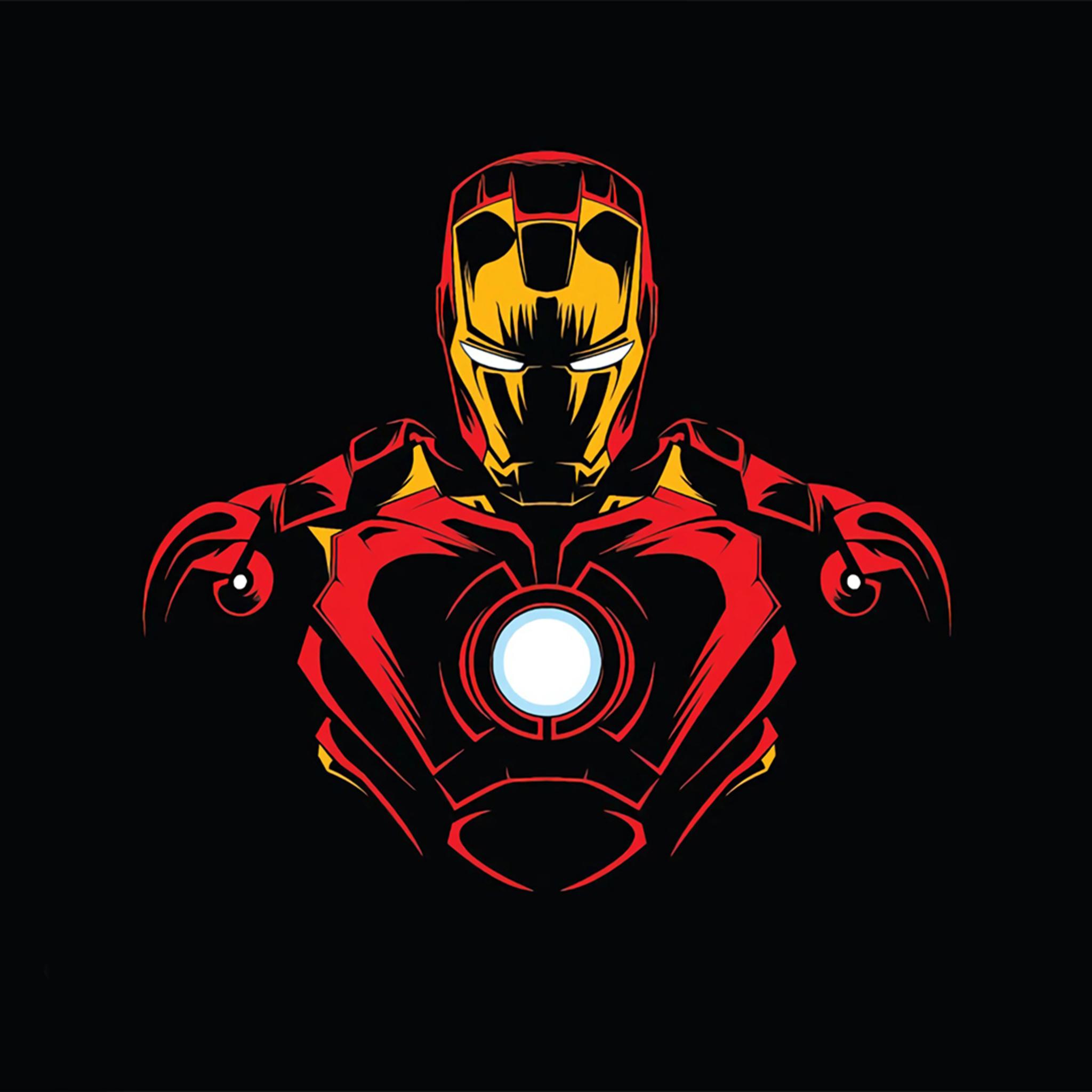 Unlocked: Iron Man Mask Logo Wallpaper