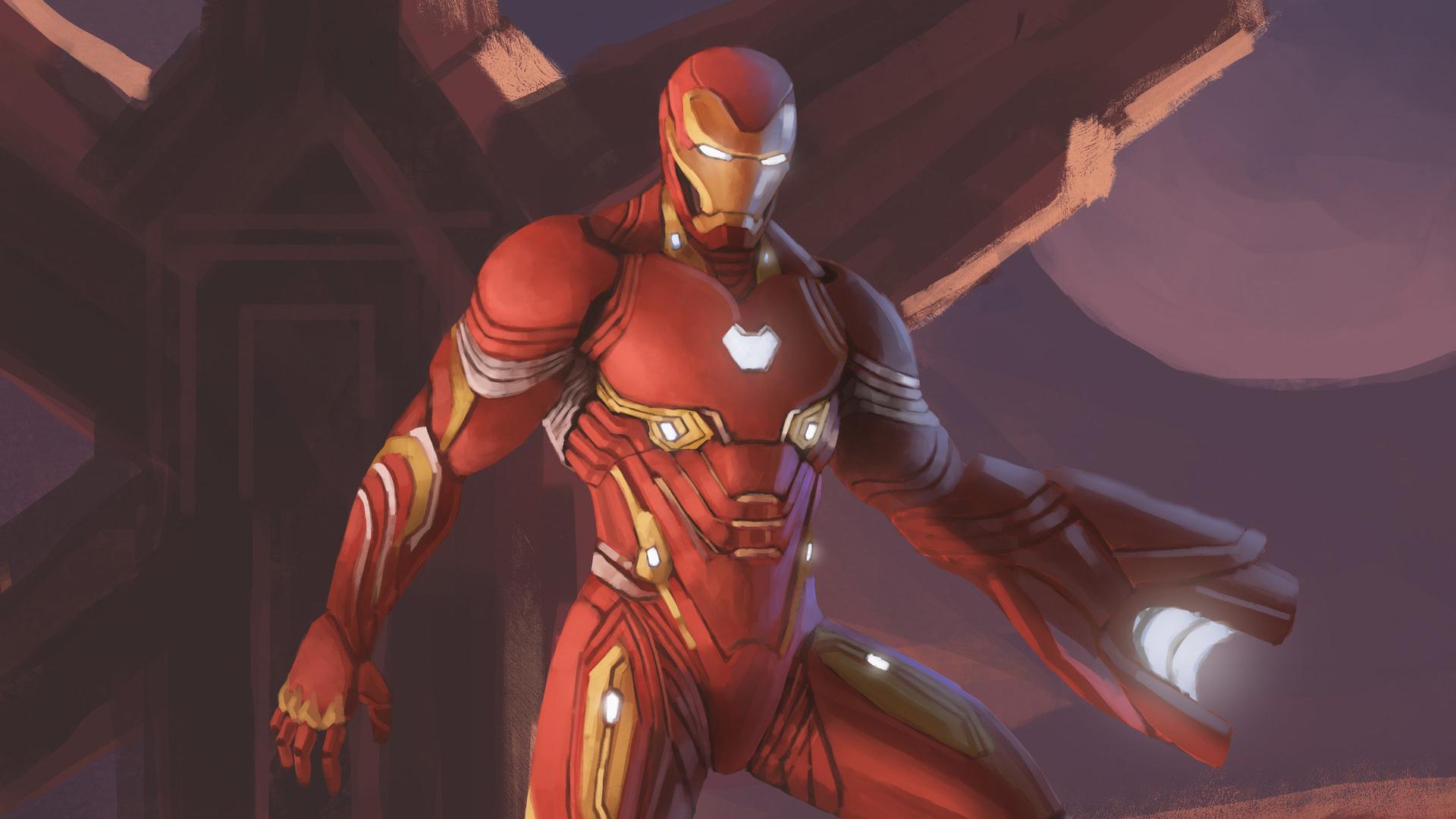 1920x1080 Iron Man Nanosuit In Avengers Infinity War Laptop