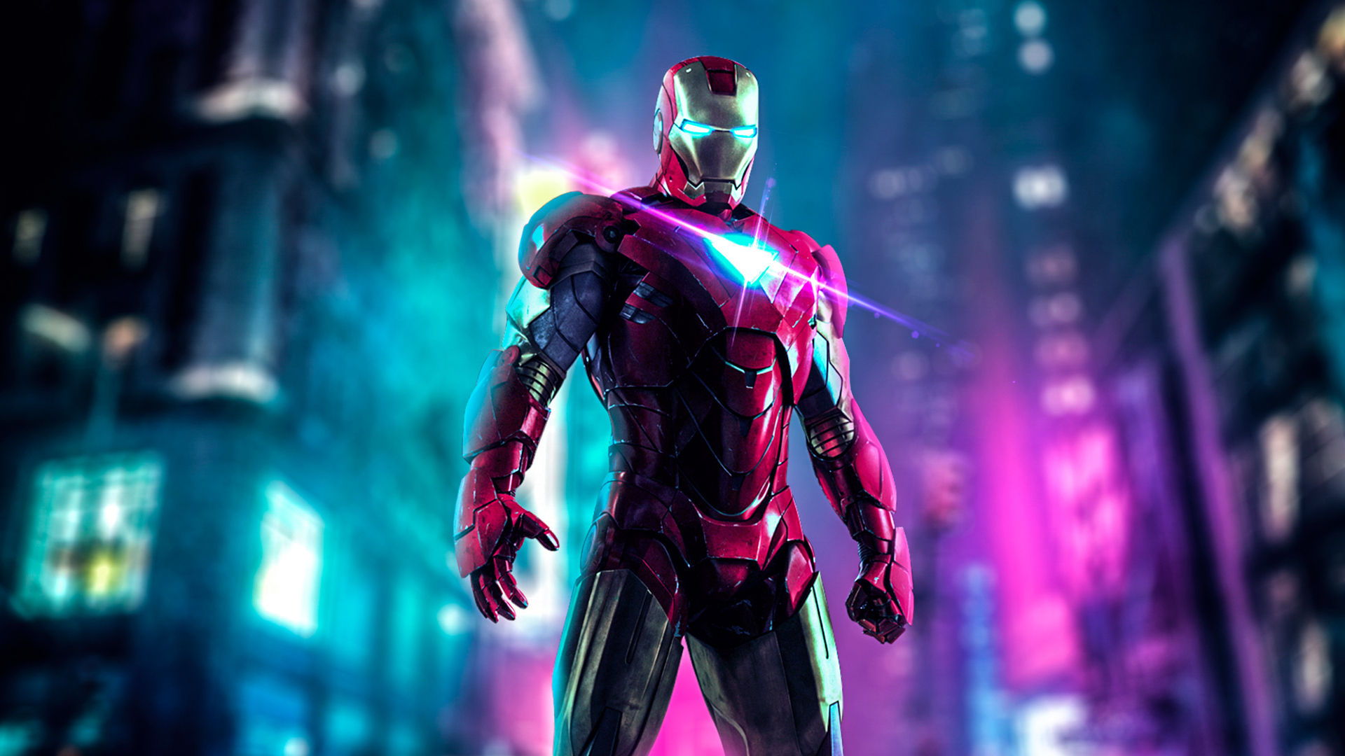 1920x1080 Iron Man Neon Art Laptop Full Hd 1080p Hd 4k