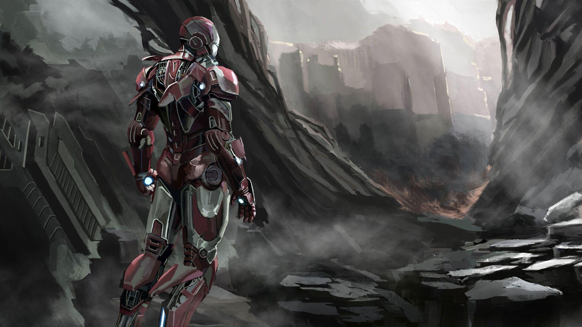 1920x1080 Iron Man New Art 2019 Laptop Full Hd 1080p Hd 4k