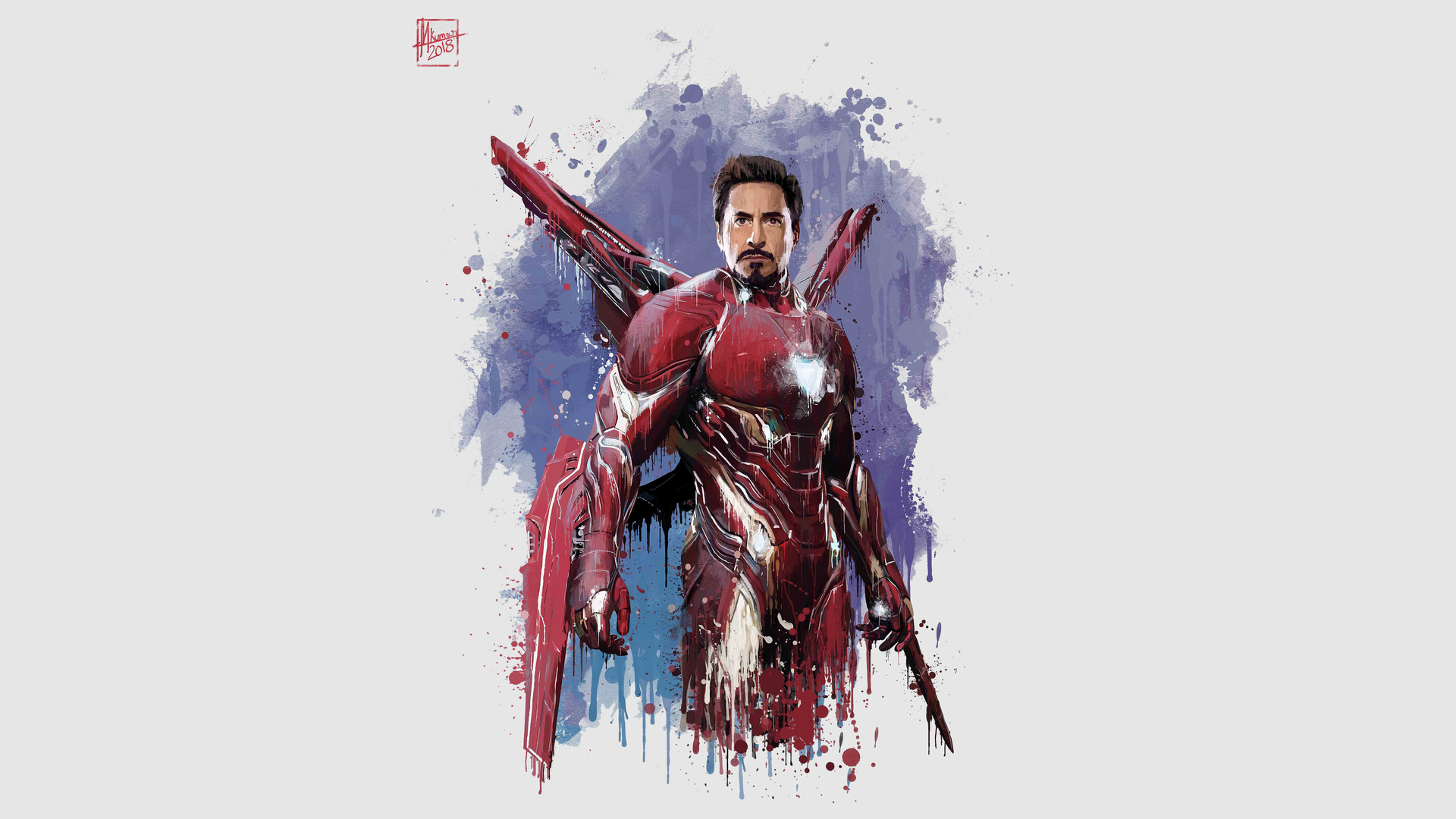 1920x1080 iron man new suit for avengers infinity war laptop full hd