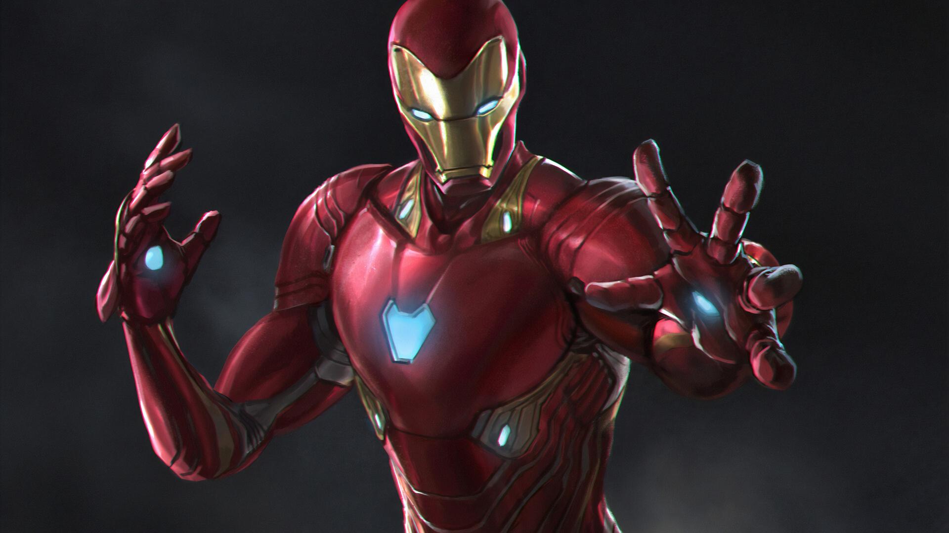 1920x1080 Iron Man Newart Laptop Full Hd 1080p Hd 4k