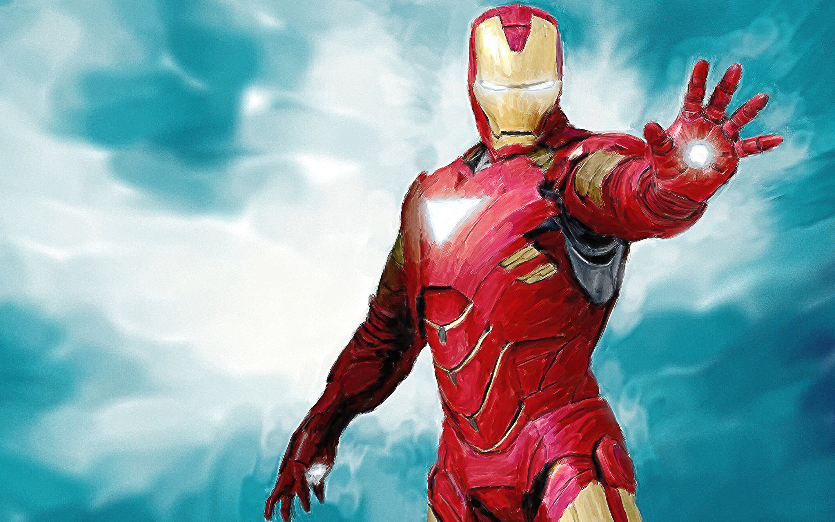 2880x1800 Iron Man Paint Macbook Pro Retina HD 4k Wallpapers, Images
